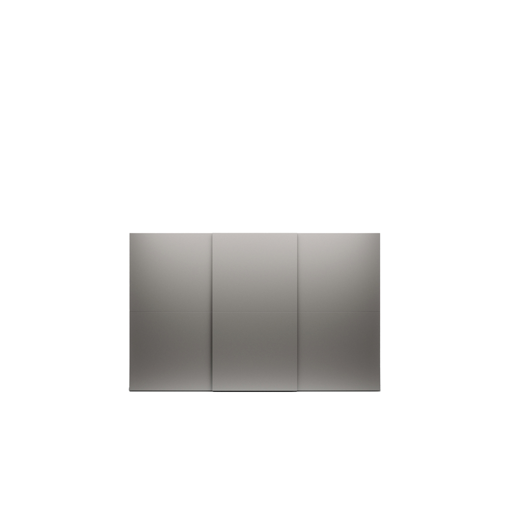 Allison Sliding Door Wardrobe - Allison introduces a more classic take on the sliding door wardrobe. Available in all matt lacquered colours, in addition to the eco-wood, foil-wrapped, super-matt and decor finishes, the wardrobe has a hidden profile handle recessed into the thickness of the door. Elegant and timeless, Allison suits any architecture, blending in beautifully with all manner of interior styles.  | Matter of Stuff