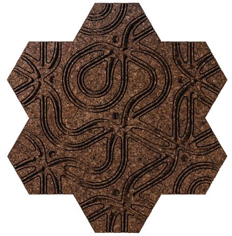 CorkHexran Cork Tiles