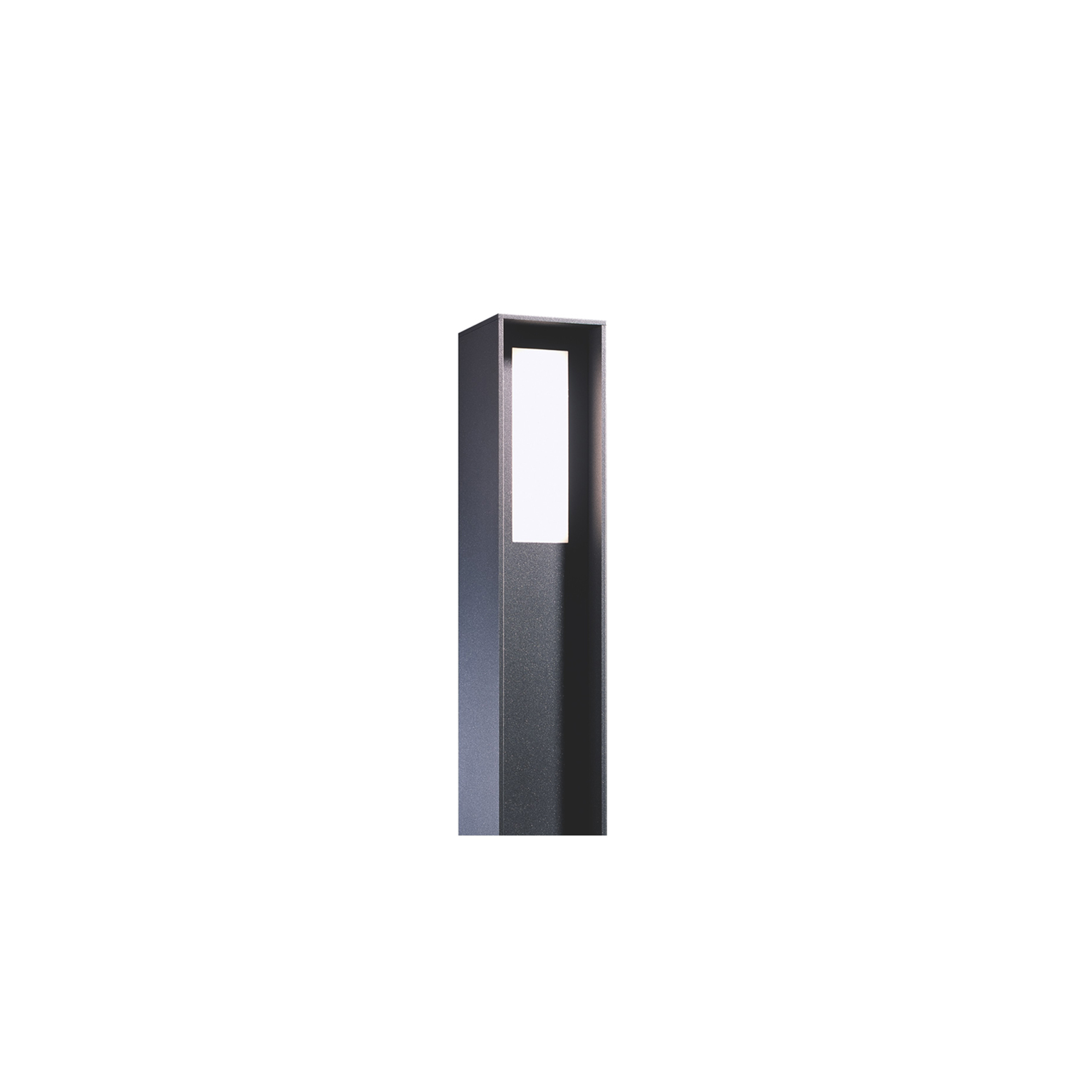 H Bollard Light - With a minimalistic design and the possibility of having a light output on up to three sides the bollard blend in very well in modern architecture and gives a lot of opportunities for tailored use. With the base for surface mounting or for inground installation by an additional earth anchor. An additional adaptor plate is needed for installation on uneven ground. Adaptor plate and earth anchor to be ordered separately.  | Matter of Stuff