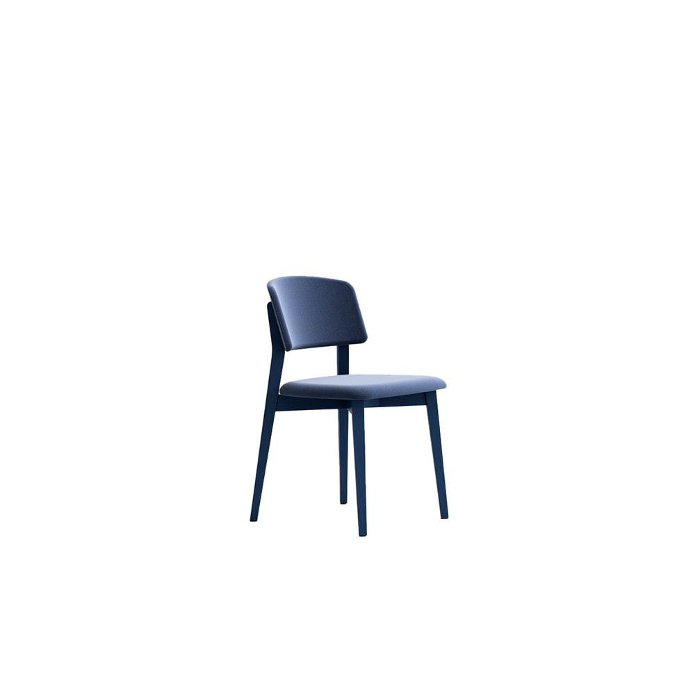 Wrap 6C62 Chair - Seat collection in stained or lacquered beechwood, with fabric, leather or eco-leather upholstery. Capable of transforming a room, a venue, a restaurant, a café through its softness and colour.  Lacquered versions available for an additional surcharge: Ral 9016 White I  Ral 9017 Black I Ral 7030 Stone I Ral 3020 Red | Matter of Stuff