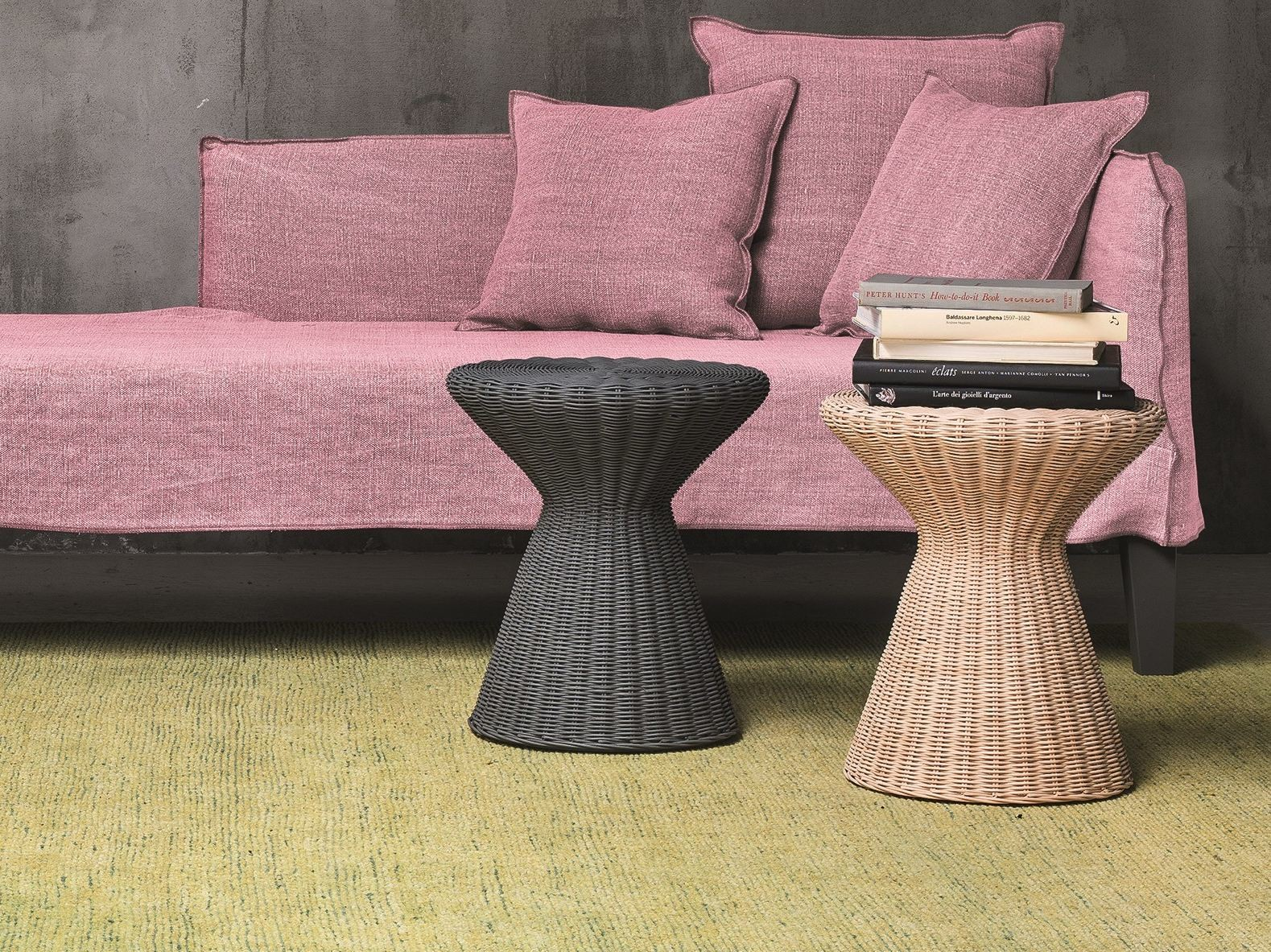 Bolla 12 Coffee Table - Bolla 12 is a coffee table in natural melange rattan core. It is also available in matt white, grey, air force blue, black lacquered. | Matter of Stuff