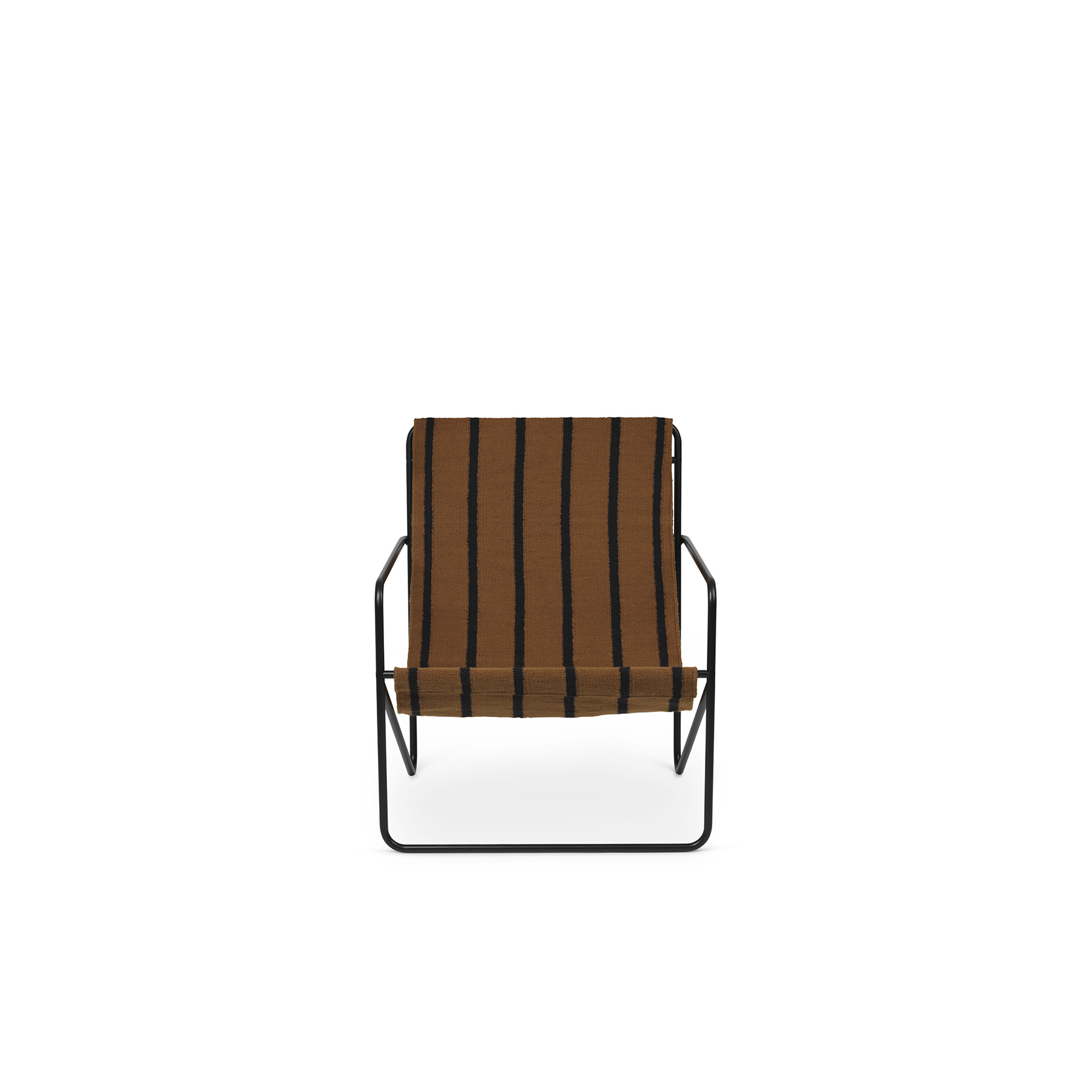 Desert Lounge Chair Stripes - <p>A Modernist chair with a graceful profile, Desert Chair is crafted from a tubular powder-coated steel frame in colours Black or Cashmere, holding an interchangeable woven textile seat made from recycled plastic bottles, available in four designs: Soil, Stripes, Shapes or Solid Cashmere. Suitable for use both indoors and out, the lounge design invites relaxation. Just sit back and enjoy.</p>  | Matter of Stuff