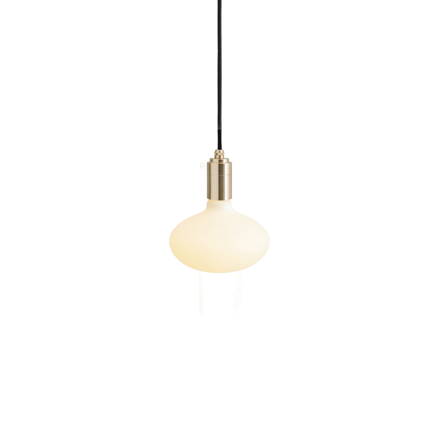 Oval Pendant Light - The Oval Pendant Light pairs the soft, rounded form of the Oval bulb with a Tala pendant in Brass, Graphite, Oak or Walnut finish.  The matte-white glass finish and high lumen output of the Oval bulb combine to produce an even light that is suitable to illuminate a room, hallway or corner space.  Paired with the Brass, Graphite, Oak or Walnut pendant, this is a beautiful and decorative lighting fixture all in one.  Features – Dimmable – Rounded bulb shape – Energy-efficient, LED technology – Matte white glass finish – Available with a Brass, Graphite, Oak or Walnut pendant – 3 metre length cord for maximum versatility   | Matter of Stuff
