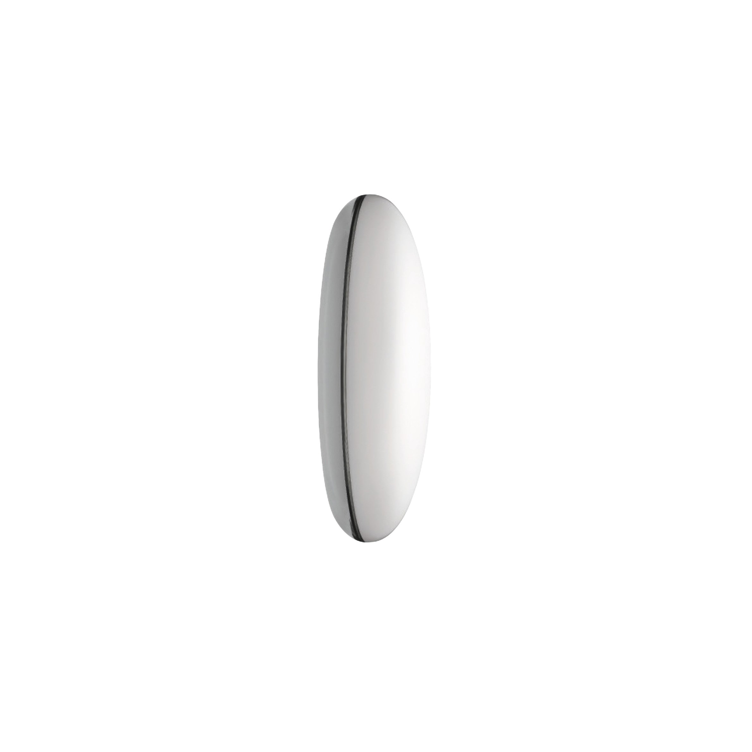 Silverback Wall Light - The fixture emits diffused light.‎ The opal curved diffuser provides a soft and comfortable spatial lighting, and the metallised rear half of the product produces a decorative halo-like illumination on the ceiling or wall surface.‎ The metallised surface also creates a mirror effect, reflecting the texture, colour or material of the installation surface.‎