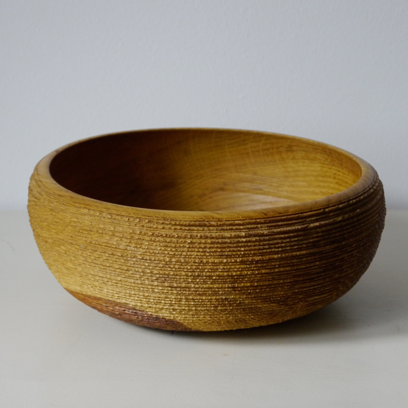Bowl 07 - The artistic work of the trained carpenter and film-director Fritz Baumann is expressed in award-winning films and unique works in wood. No. 06 Bowl is hand carved inOak, then limed.  | Matter of Stuff