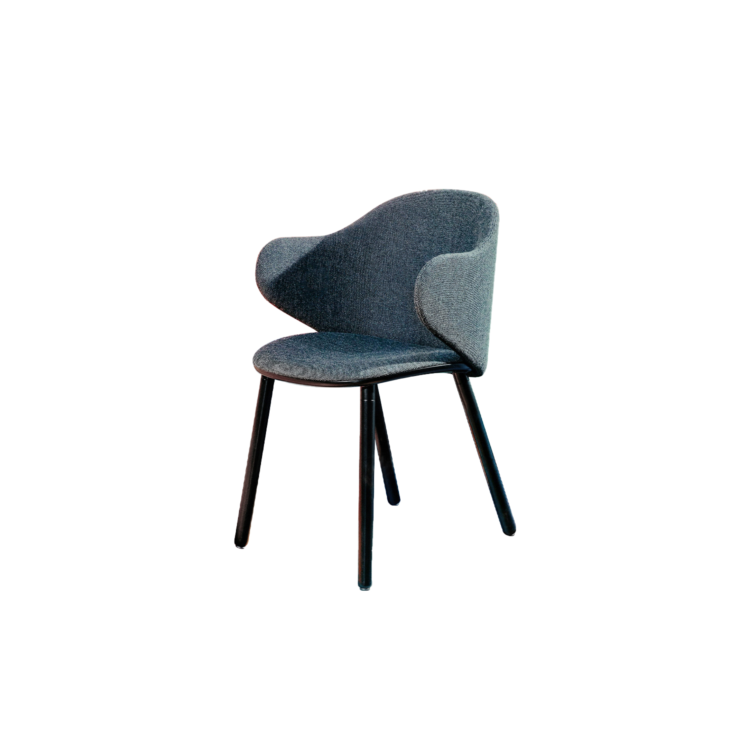 Dua Armchair with Four Legs - The Berlin-based studio Läufer & Keichel has created a chair for Kristalia with soft, embracing lines. The name recalls the number two, which recurs throughout the design project starting with the two elliptical surfaces of the seat and backrest, which sensually revolves around the seat. Available with a slide-frame base or with four solid wood legs, the chair and armchair can be upholstered with the fabrics and leather in the catalogue, with the option of different upholstery for the seat and backrest to create contrasting or matching combinations. A range of materials, colours and finishes are available in a number of combinations. Prices may vary. Please enquire for full details.  | Matter of Stuff