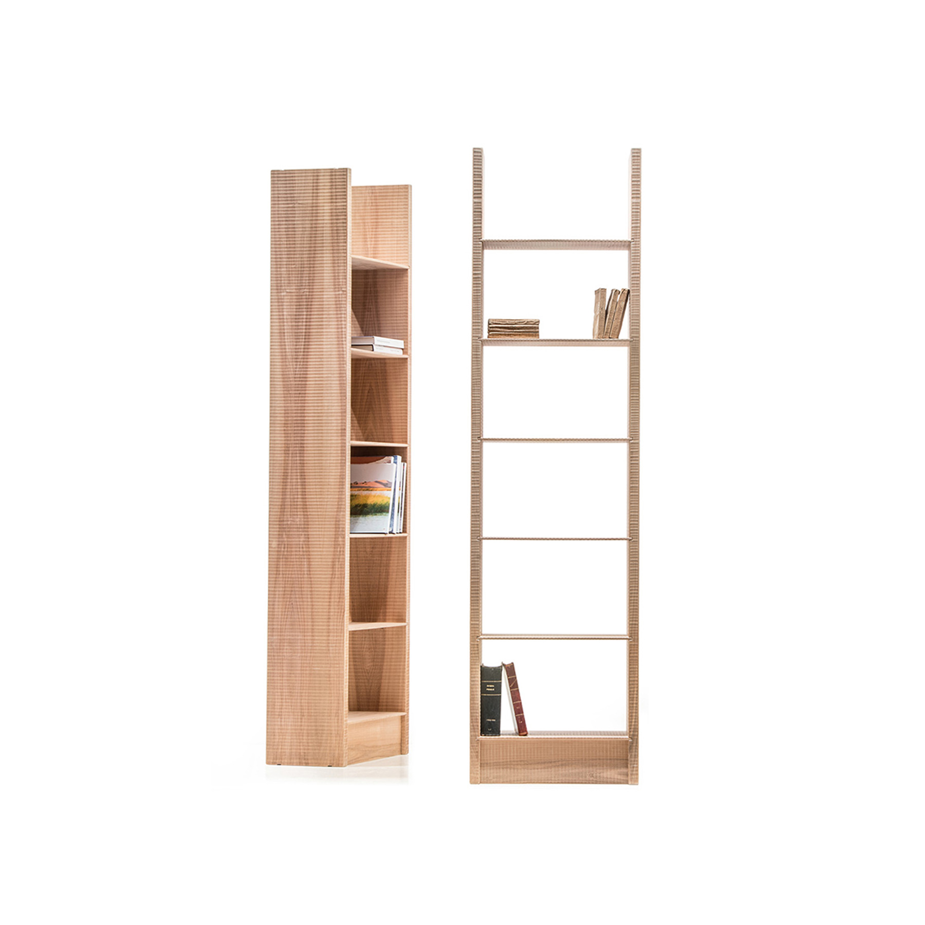Gottinga Bookcase - <p>Gottinga is a modular bookcase is solid wood with shelves at fixed heights. It comes finished by sanding or hand planing.<br /> The entire manufacturing and finishing process is carried out manually in our workshop. The wood used for this item is maple, a wood from the temperate European zone traditionally used for musical instruments; it has a subtle, fine grain, very distinctive, and a characteristic white colour. This distinctive colour, visible as we work the wood, tends to turn yellow rapidly, unless treated appropriately to preserve the original whiteness. Customise and made with Linden wood, Italian walnut, European cherry, Slavonian oak.</p>  | Matter of Stuff