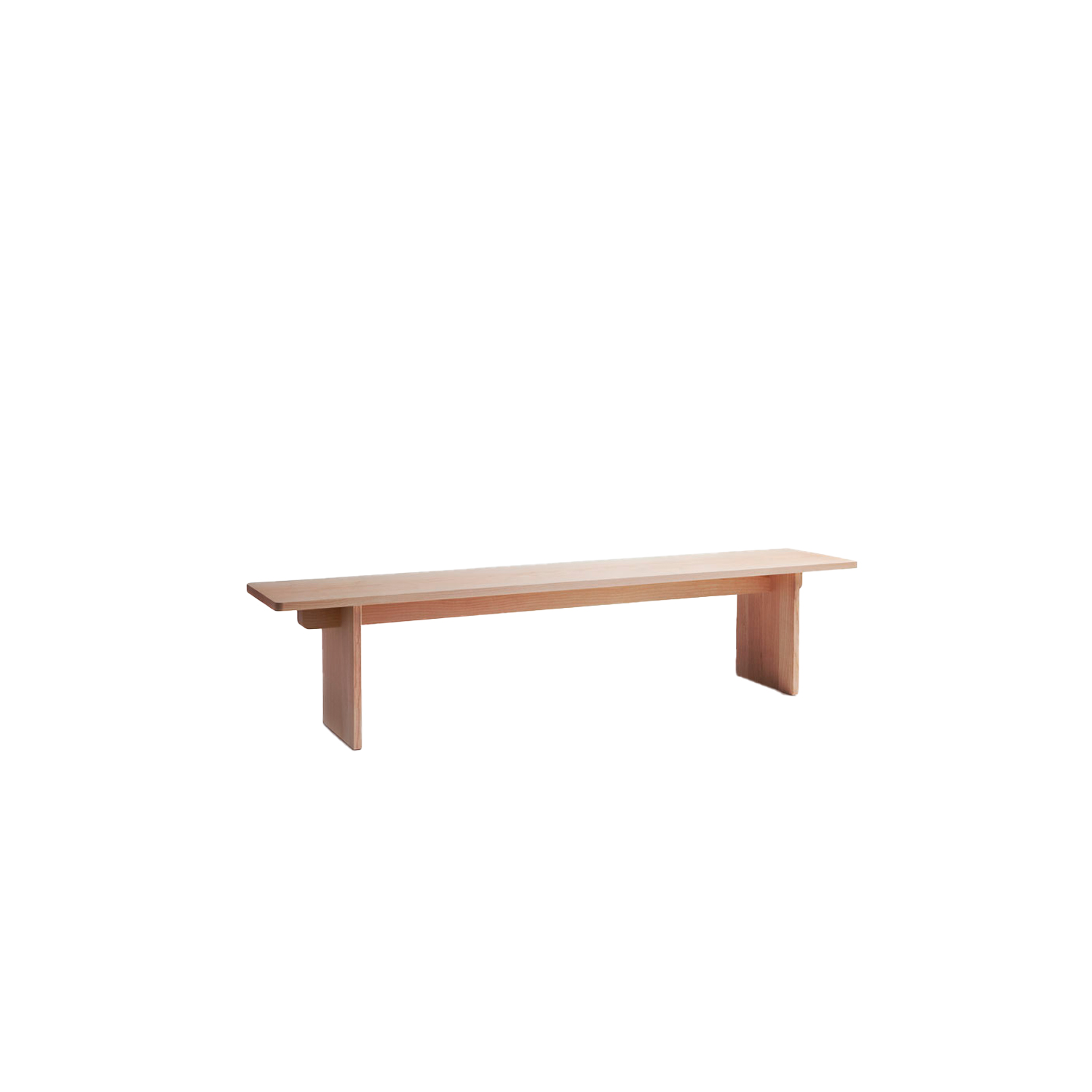 Edi Bench - The EDI bench is editable: it can be ordered in three different sizes or by made by order dimensions. The durable structure makes it suitable for highly commercial use, and it also serves well as a side table. The EDI bench is available in ash or oak with an oiled finish.   Made by order dimensions -  Option 1: L186-240 x W40 x H45 cm / Option 2: L240-270 x W40 x H45 cm / Option 3: L280-310 x W40 x H45 cm  For more information regarding Made By Order Options, please inquire.    | Matter of Stuff