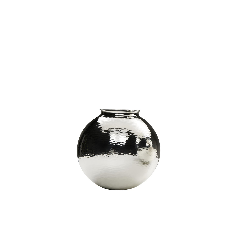 Egregora Vase - The Egregore vase features an aqua texture in glossy silver.  | Matter of Stuff