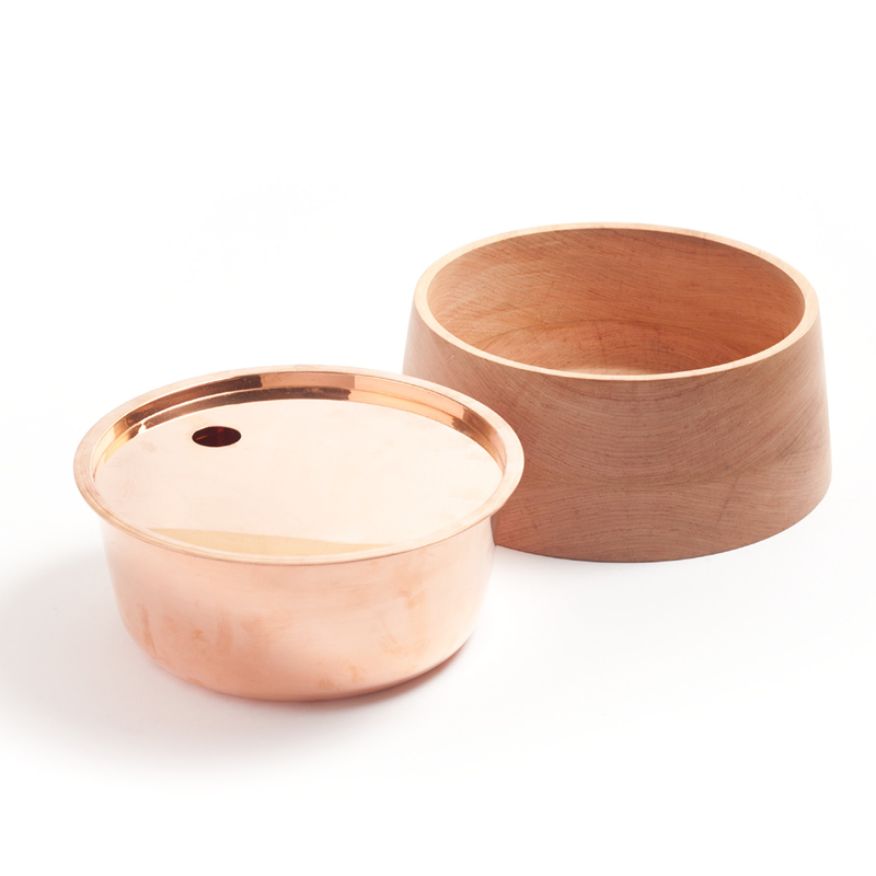 Base Bowl C - <p>Base bowls collection is a set of containers completely made by hand, with an open and everyday use. One of the main attributes of this collection is the integration of two container pieces combined in one unit. According to this logic, each bowl includes two separate layers: The external one made of Lenga wood and the internal layer made of copper.</p>  | Matter of Stuff