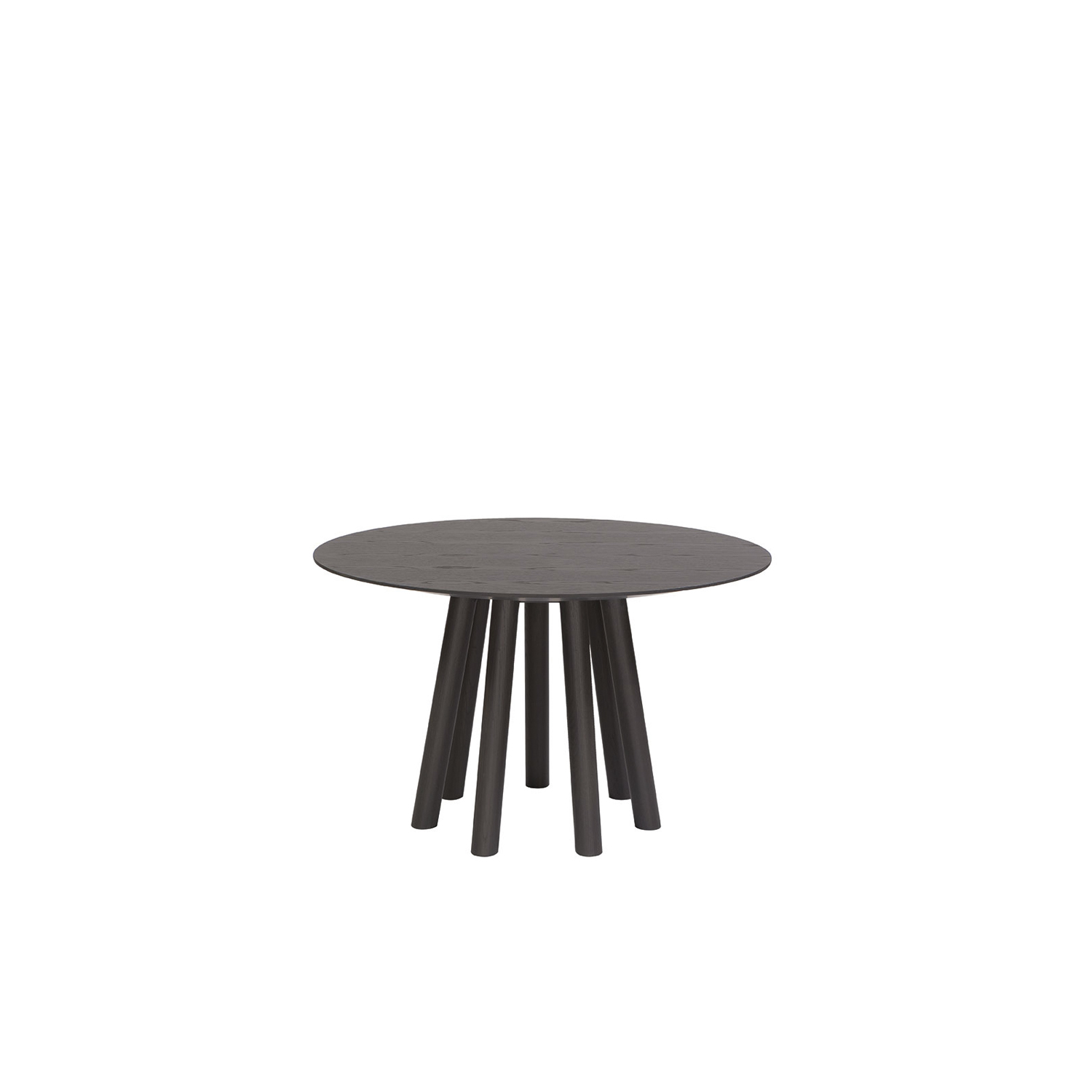 Mos-I-Ko 001 Ra Round Dining Table - Round table in various sizes with shaped top with a thin edge,