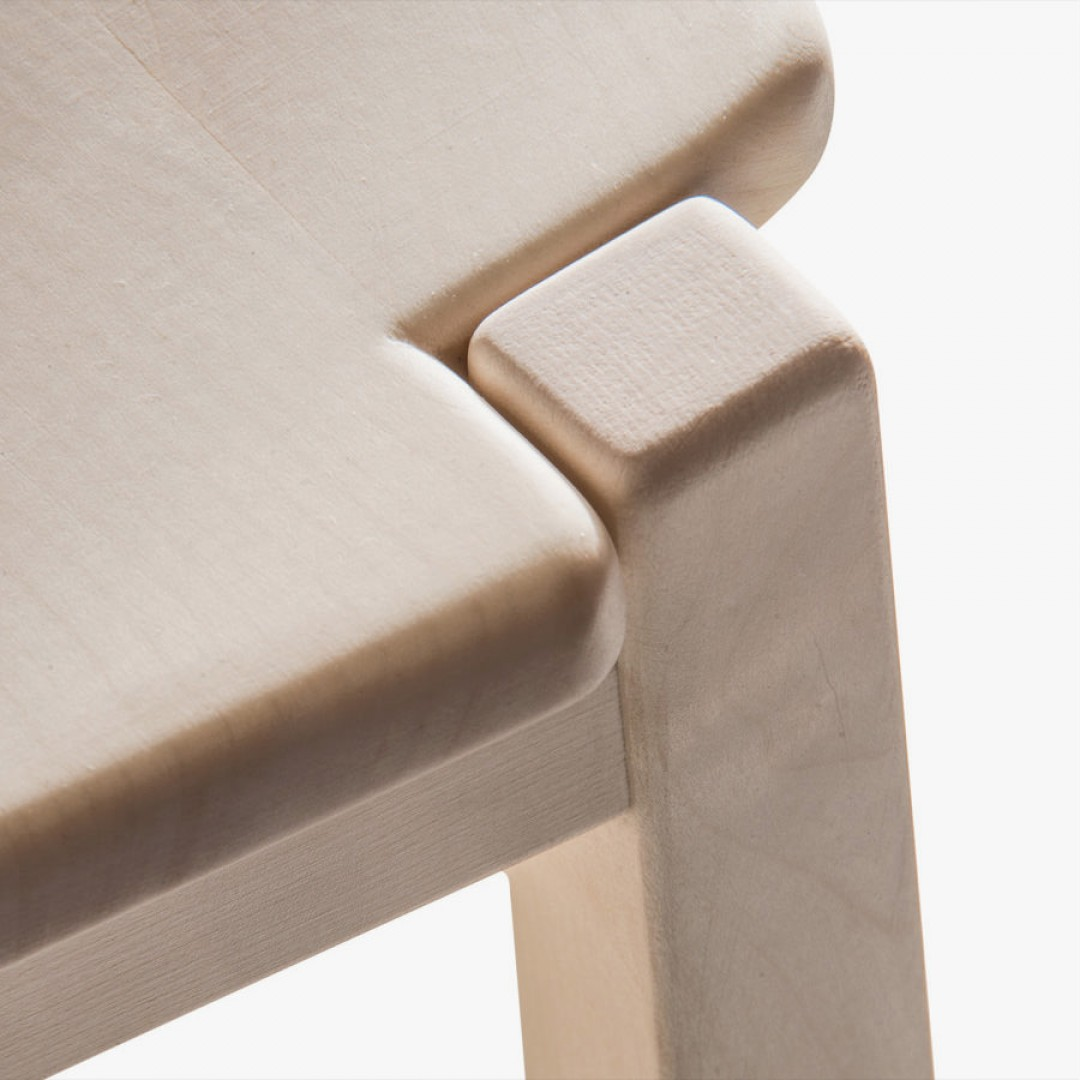 """Vela Sanded Chair - <p>Vela is a chair with a solid wood structure assembled by interlocking. It is available in two versions: in hand-planed Italian walnut or sanded maple. The entire manufacturing and finishing process is carried out manually in our workshop. Juglans Regia – common Italian walnut – not dried but """"raw"""", belongs to the Latin tradition of furniture-making. It features an extremely compact fibre which can, however, be worked without too much difficulty; it is therefore highly suitable for household items. Maple is a wood from the temperate European zone traditionally used for musical instruments; it has a subtle, fine grain, very distinctive, and characteristic white colour. The upward tapering on the legs of this chair makes it even lighter, giving the structure a new freshness.</p>  