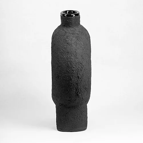 """KUMANEC Three Legs Vase - <p>(""""kumanec"""" in Ukrainian — (ceramic figured vessel)</p> <p>Traditional festive pottery with a hole-bagel in the middle, transformed into modern interior decoration, that has the power to unite people around. Vase construction and material most suitable for dried flowers without water for it.</p>  