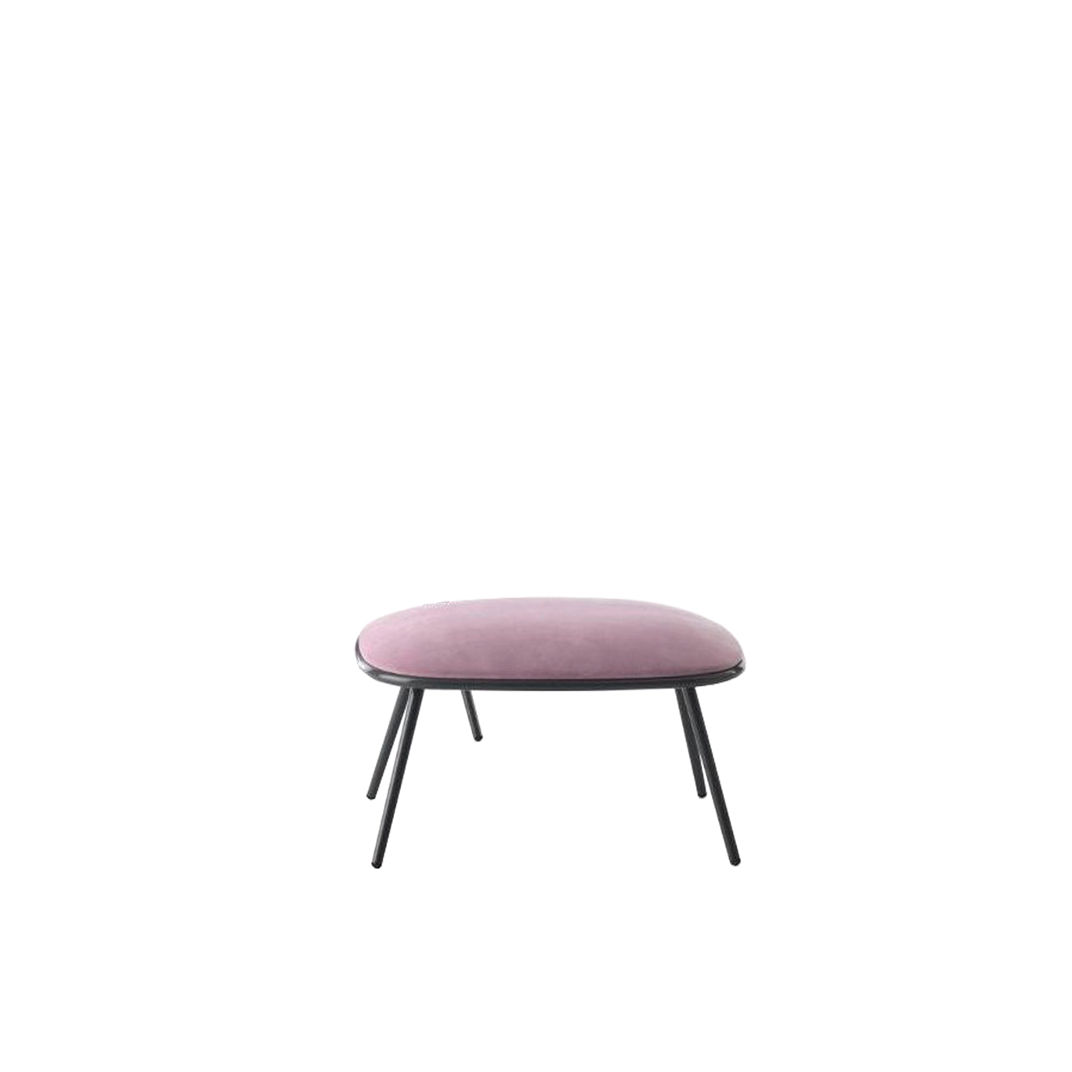 Grace Garden Footstool - Grace is a garden footrest with metal structure and fabric padding, part of the homonymous collection.‎