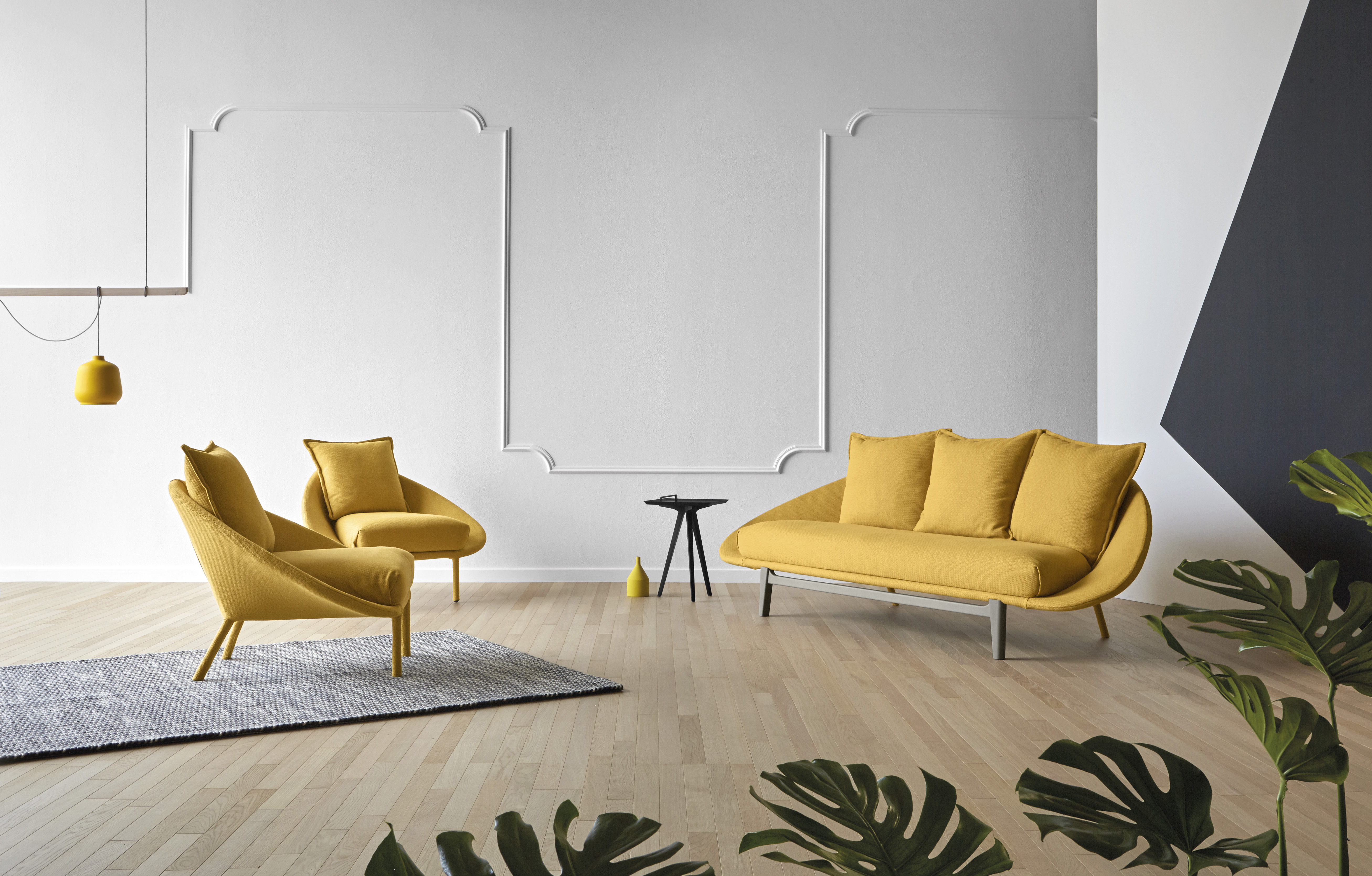 Lem Sofa - Lem is a soft and sinuous sofa with a completely upholstered structure that ascends with sweet, little feet. The soft cushions of the seat and the back lean on the fabric shell, ensuring maximum comfort. The Lem series includes five variants, two or three-seater sofa, sectional sofa, armchair, and ottoman.  Kit 1 and Kit 2 back cushion are also available to purchase please enquire for more details.   A range of upholstery fabrics, materials and colours are available in a number of combinations. Prices may vary. Please enquire for full details.  | Matter of Stuff