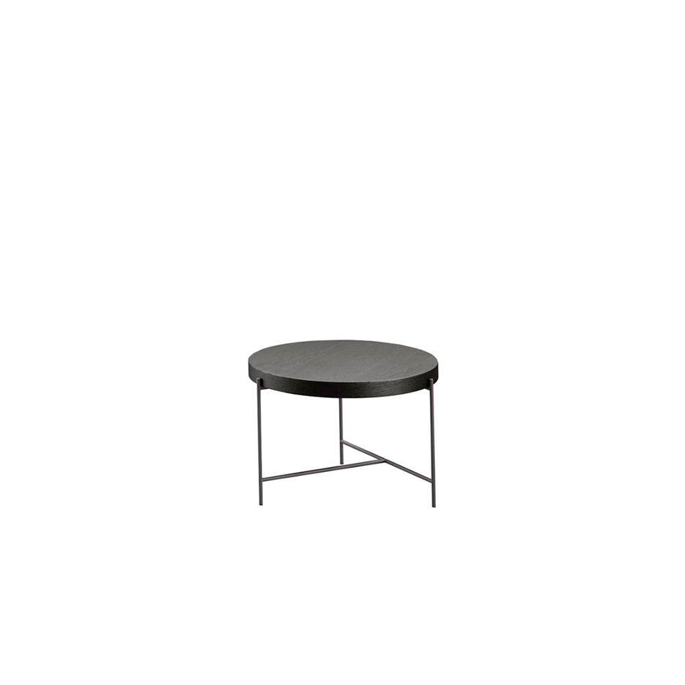 Globe Veneered Top Table  - With Globe, Novamobili studio has designed a collection of occasional tables with a stylish, modern feel. The pared-back T-shaped structure supports a 5cm-thick top, which can be customized in one of the various finishes. Available in a choice of three diameters and three heights, Globe is a truly cross-functional occasional table, suiting different styles and rooms.   | Matter of Stuff