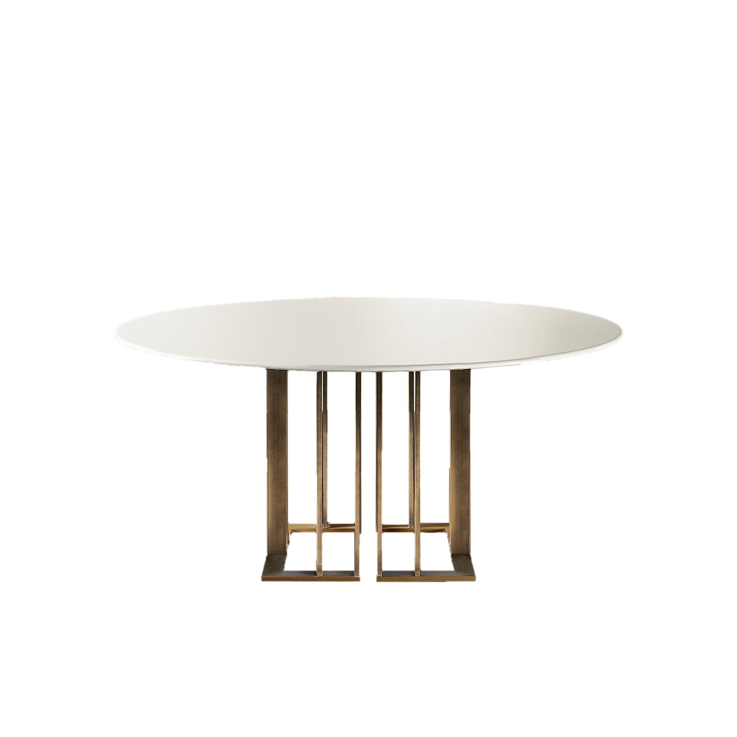Charlie Round Table  - This collection includes tables of various sizes with square, round or rectangular tops. The sophisticated and urban look is determined by the precious metal base in different versions. The wide possibility of customization is pledged also by the several available finishes for the tops. | Matter of Stuff