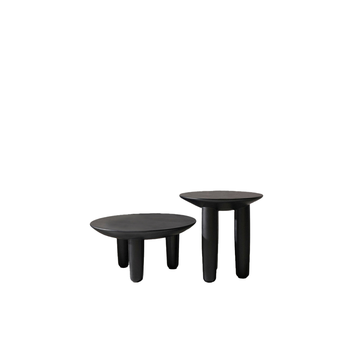 "HRYB set of Coffee tables - ""Hryb"" in Ukrainian means mushroom. After the rain in Polesia, just got out of the ground this small wooden coffee table on 3 legs, on which has already settled comfortably your cup of sweet-smelling coffee.This is a set of both coffee tables however they are also available to purchase separately. 