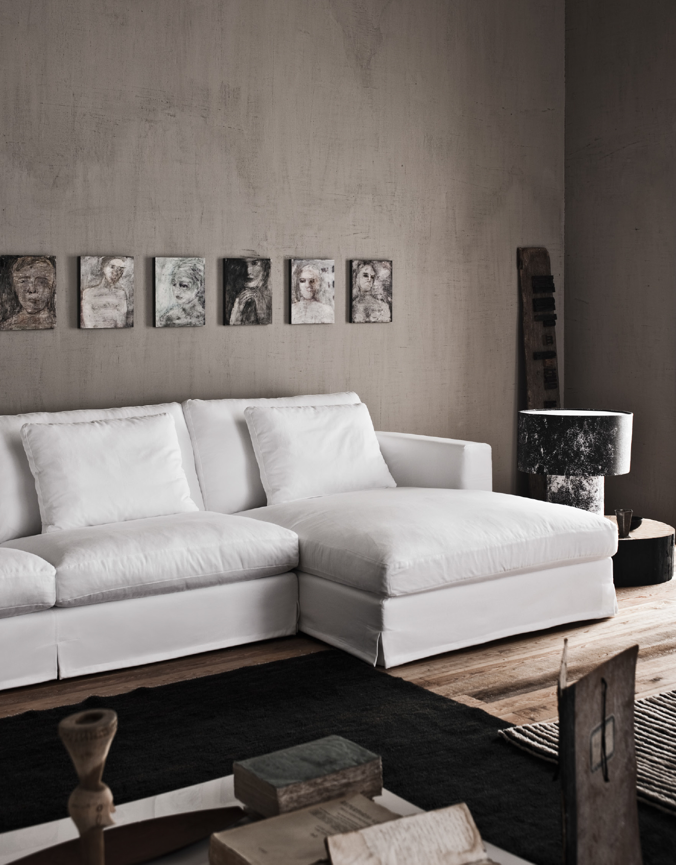 Karma Modular Sofa - The Karma collection is the ultimate expression of the versatility of Saba Italia's product line: a sofa that fits seamlessly into both modern settings and more classical homes. Karma has been riding the wave of success through passing years and fleeting fashions thanks to its almost obsessive attention to detail. Design details ensure comfortable seating despite its depth of 110 cm, and add to its substance without weighing it down. Elegant proportions, timeless design and absolute suitability for any type of covering make Karma feel like the sofa of your destiny. Fully removable covers.  This item is available in various sizes and combinations. Please enquire for more information and prices.  Materials Structure in wood padded with polyurethane foam covered with velfodera coupled with 300gr/sqm pressed polyester fiber. Feet in wood. The seat cushions are padded with goose feathers and 100% polyester fiber divided in sections with polyurethane foam insert. The back cushions are padded with washed and sterilized goose feathers and polyester fiber divided into sections. All the cushions have covering in anti-feather 100% cotton cloth.  | Matter of Stuff