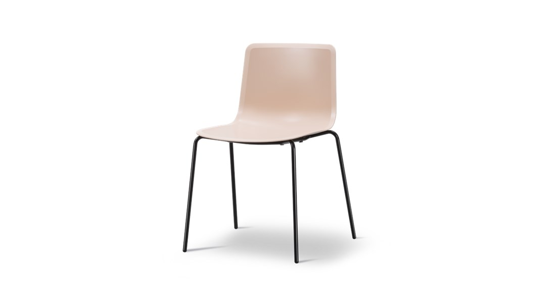 Pato 4 Leg Tube Base Chair - Pato is a carefully crafted multipurpose chair in eco-friendly polypropylene that can be used outdoors. The chair is available with a range of optional features including coupling. The chair can be tuned from basic to exclusive with optional upholstery.  Pato is a prime example of our focus on sustainability and protecting the environment, reflected in a chair that's 100% renewable and recyclable. All components can be incorporated into future furniture production, thus contributing to a circular economy by minimising the use of materials, resources, waste and pollution.   Merging traditional production methods with cutting-edge technology, Pato is a human-centric, highly versatile series of multi-purpose functional furniture that draws on our in-depth experience with materials, immaculate detailing and heritage of fine craftsmanship. Allowing us to apply our high standards of texture, finish and carpentry techniques to an array of materials in addition to wood for products aimed at a mass market.   With its clean lines and curves, Pato echoes the ethos of Danish-Icelandic design duo Welling/Ludvik. Demonstrating their belief that good design has the ability to be interesting, even when reduced to its most simple form. Where anything extraneous is eliminated and every detail has a purpose.   Together we spent nearly three years developing the shell structure to have a soft surface that's also wear and tear resistant. Enhancing the chair's ability to optimally conform to the user's body is a subtle beveled edge. A technique from classic cabinetmaking, which gives the chair a sense of handcrafted finesse. Each Pato is detailed and finished by hand by our highly skilled crafts people, who refine the beveled edge and the silky, resilient surface. Setting a new standard for the execution and finish of polypropylene.   Since the success of its initial launch, we've expanded Pato into an extensive collection of variants, featuring armchairs, ba
