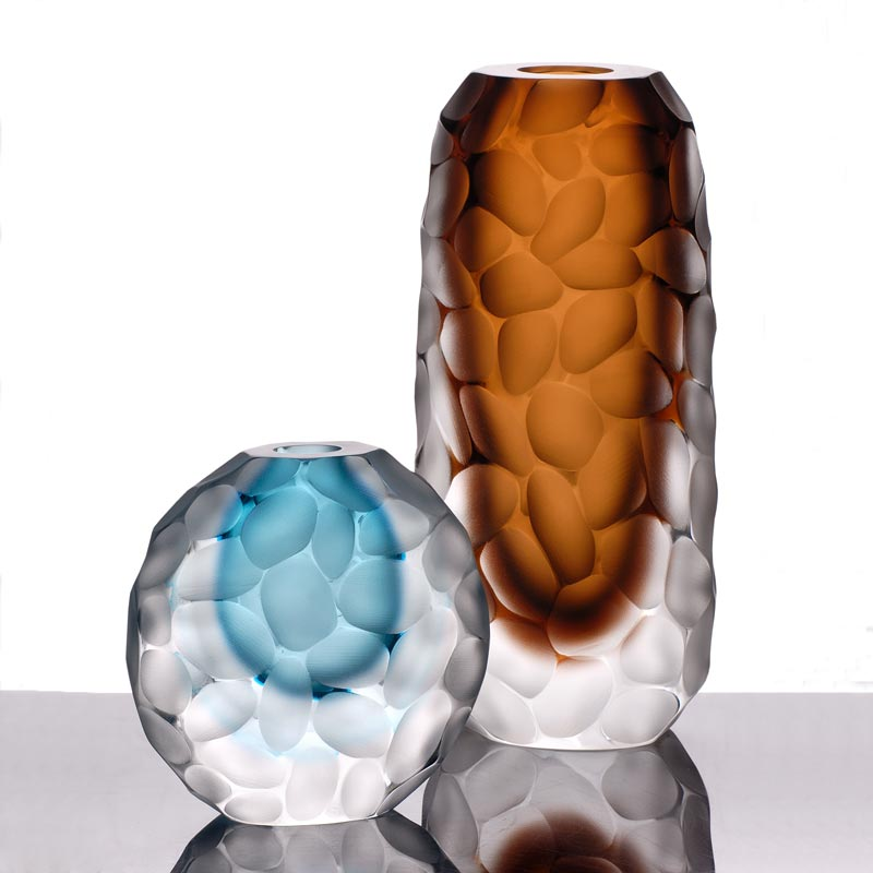Invidia Vase - <p>A distinct vase and unique statement piece for a range of environments by master glass blowers Fornace Mian available in a range of sizes and colour insets.</p> <p>Prices are for individual vases</p>  | Matter of Stuff