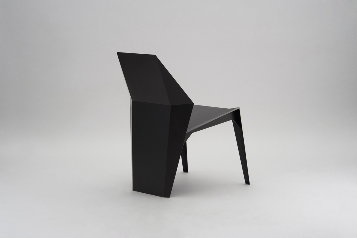 Centaurus Chair - <p>The Centaurus Sculptural Chair, is made by 2 mm thick steel plates, laser cut, bent and shaped, welded and ground. The finishing consists of different steps, so to achieve the perfection required for such an exclusive product; the last touch is always handmade, to get a perfect result. A beautiful, unique jewel, like a sculpture, perfect for any interior style. The Thinness Collection Matt Edition is available in customizable colours, presented in Materia Obscura black finish.</p>    Matter of Stuff