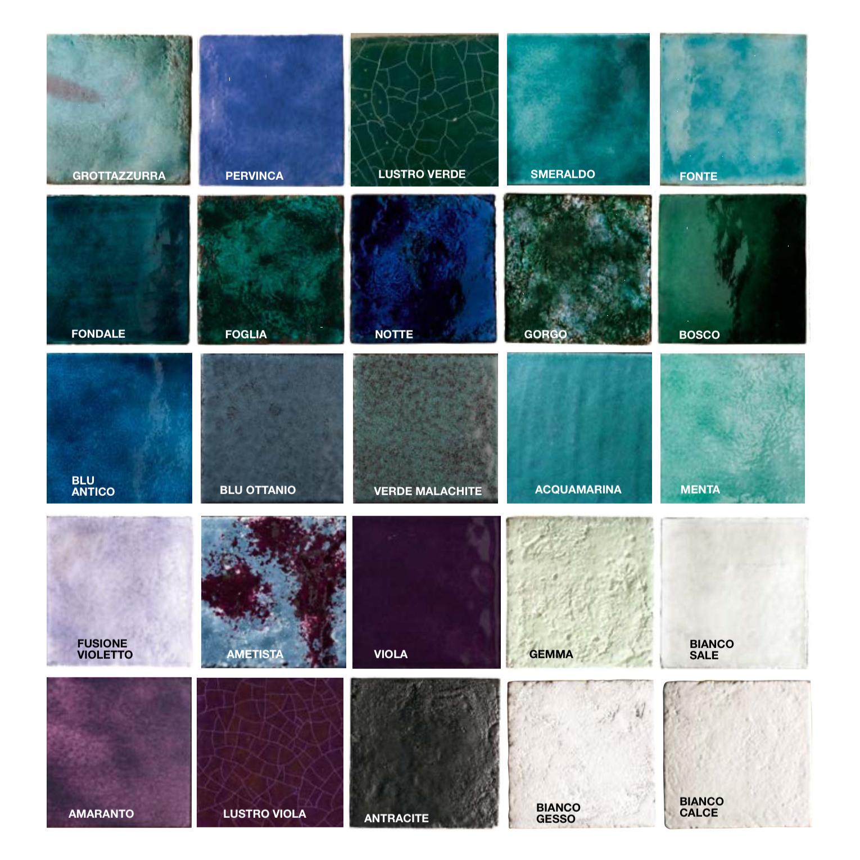 Square Cotto Tiles Lustro Purple