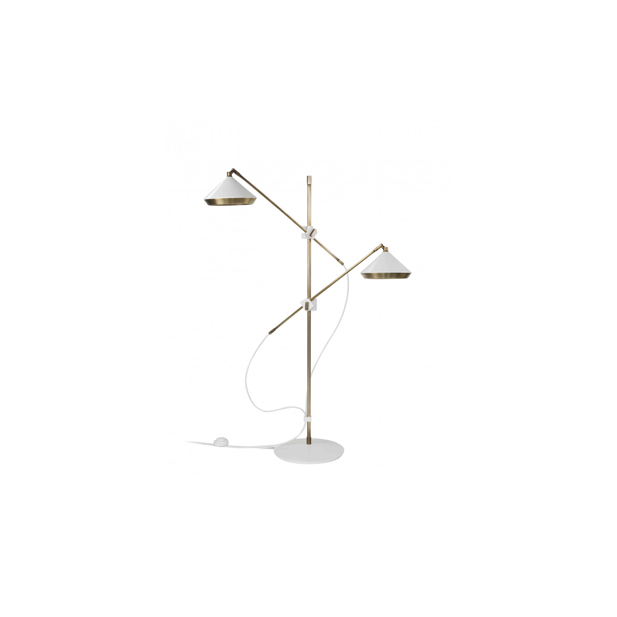 Shear Floor Lamp - The Shear floor lamp is both practical and striking with its two arms that can be rotated, tilted and extended so the adjustable shade can be positioned exactly where it is required    | Matter of Stuff