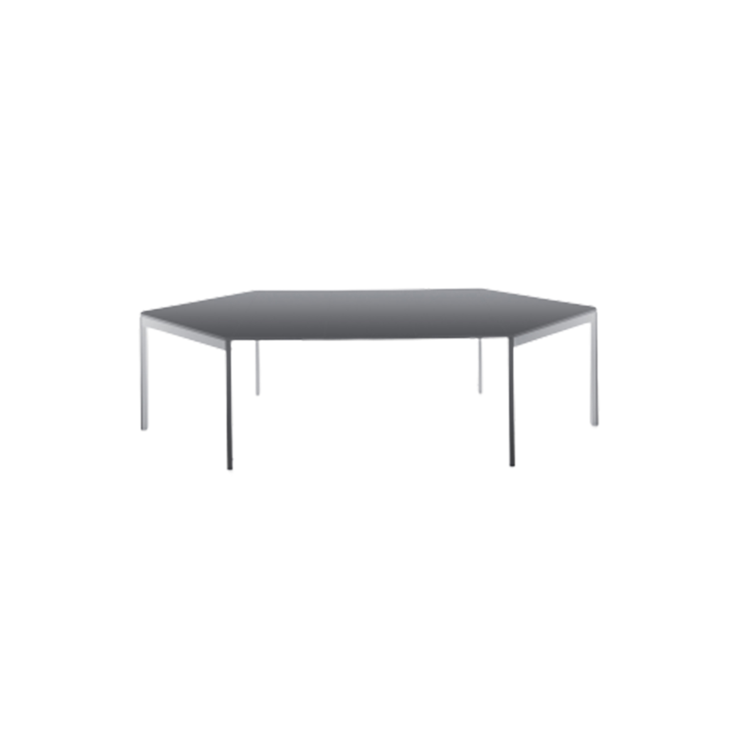 Diesis Extendable Square Table - Unexpected plays of volumes, cuts and facets make Diesis an elegant and modern table, with unusually refined details. The sophisticated technology hidden inside easily extends the top until it measures more than 2,75 meters long.  | Matter of Stuff
