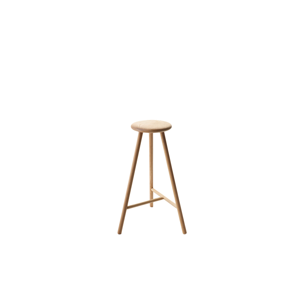 Perch High Stool - The Perch High Stool was created after its little brother, The Perch Stool, to be used around bar height tables.  This stool is available in oiled or black stained oak. The Perch High Stool is treated with natural surface treatment materials, natural wood oil mixture. | Matter of Stuff