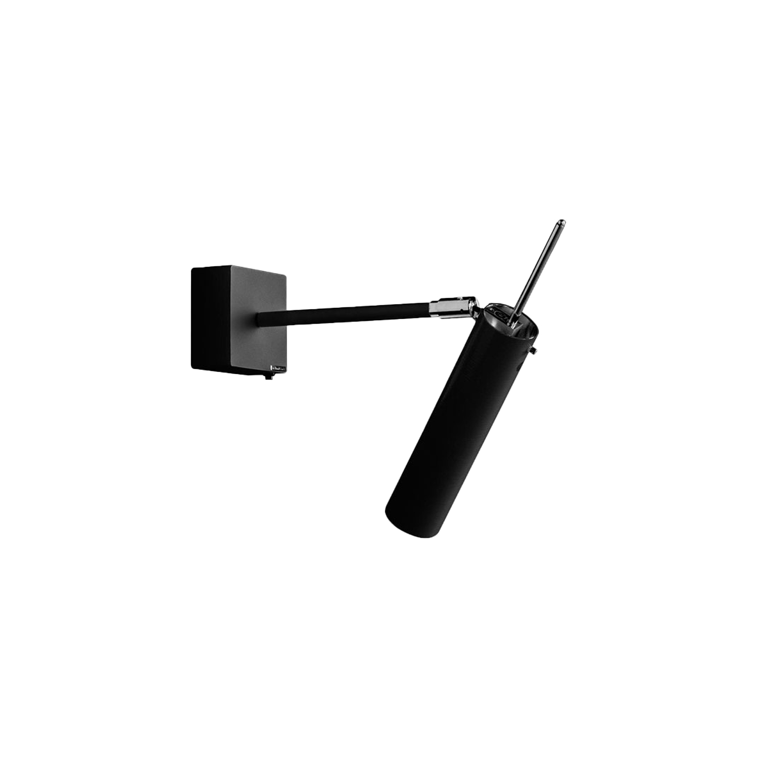 Lucenera 502 Wall Lamp - Lucenera was developed from a simple concept: taking the limelight off the lamp and giving centre stage to the light, depending on the subject illuminated. To achieve this, Enzo Catellani used a black carbon tube and flexible support. The shape is the simplest one possible; the object is the utmost in versatility. | Matter of Stuff