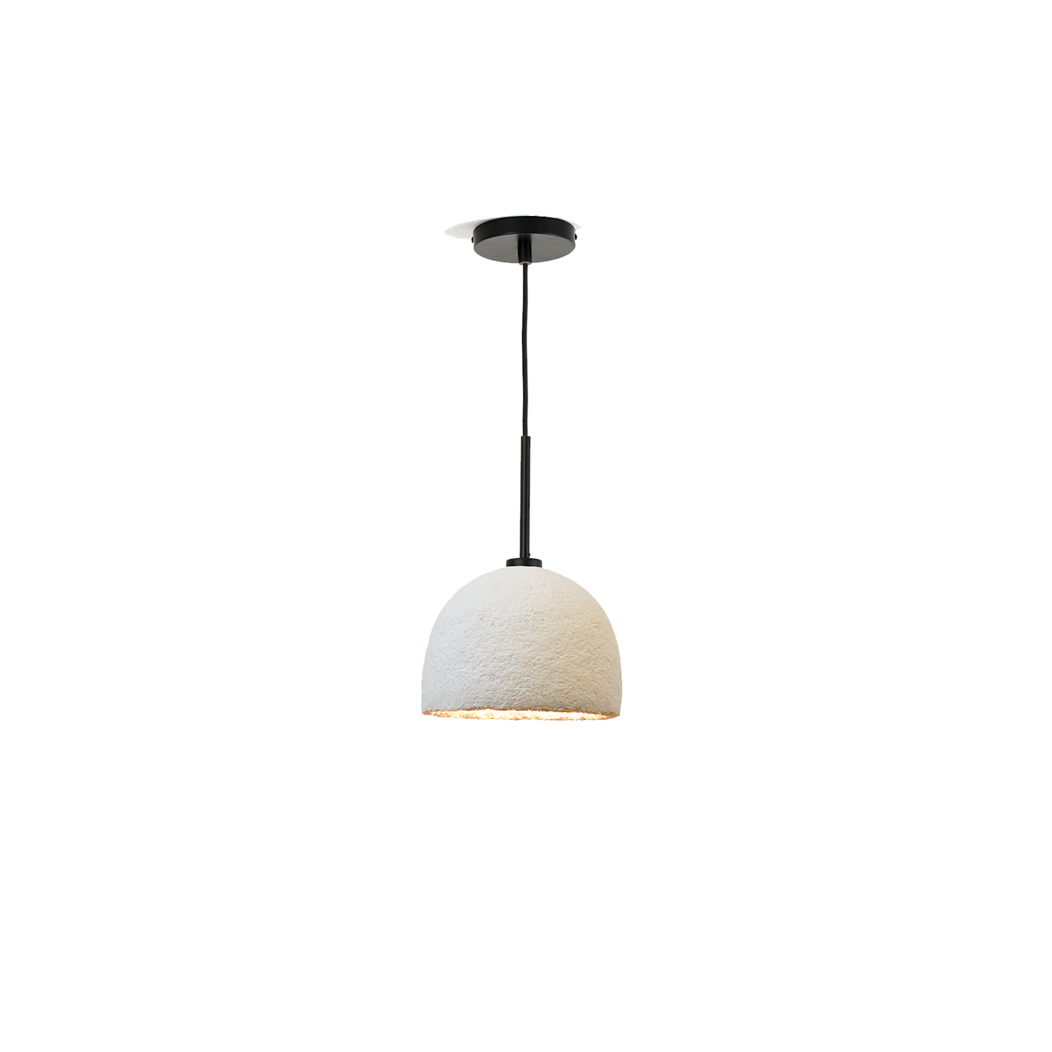 MushLume Cup Pendant Light - These beautifully designed lamps are carefully grown to give a natural boost to your interior. These lampshades are of course fully biodegradable as they are made out of agricultural waste and mycelium. Each pendant comes with a ceiling cap, a textile cable of 200cm and an E27 fitting. These necessities come in either black, white or brass and might slightly differ from the photo. 