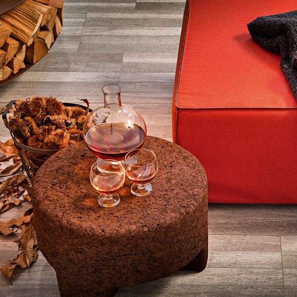 Cork 45 Coffee Table - It is side table or like a stool in cork. Protection cover is also available if anyone needs.