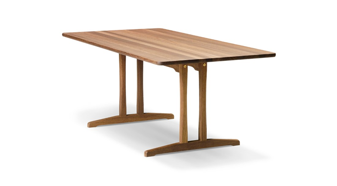 Mogensen C18 Dining Table - Inspired by traditional Shaker tables, Mogensen designed C18 in 1947 as a durable table for everyday use. Available with additional plates extending the table top by 40 cm at each end.  Practical, durable designs to enrich people's everyday lives. That sums up the essence of Børge Mogensen's overall intention with his work. Referring to wood as his preferred material, Mogensen designed an array of pieces noted for their sober expression and superb sense of proportion.   Mogensen applied the same principles to his iconic series of tables, appreciated for their clean, uncluttered lines inspired by the functional, utilitarian approach of the Shaker movement.   All our Mogensen tables reflect his ambition to create beautiful, distinctive furniture by emphasising simple horizontal and vertical lines and surfaces. A restrained aesthetic with a modest appearance intended to create a sense of tranquillity.   All of which makes the Mogensen tables an ideal choice for any gathering you can imagine. From corporate settings and meeting rooms to group dining and socialising.   Matter of Stuff