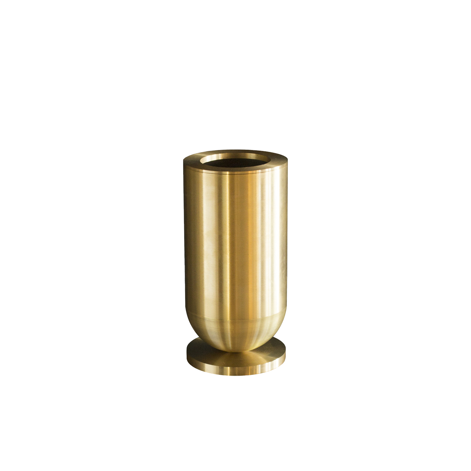 Cofete Vase - Cofete Vase made from full brass it is a unique piece. Hand made. Available in two sizes. Inside the vase there is a glass water container. Each vase has the signature.
