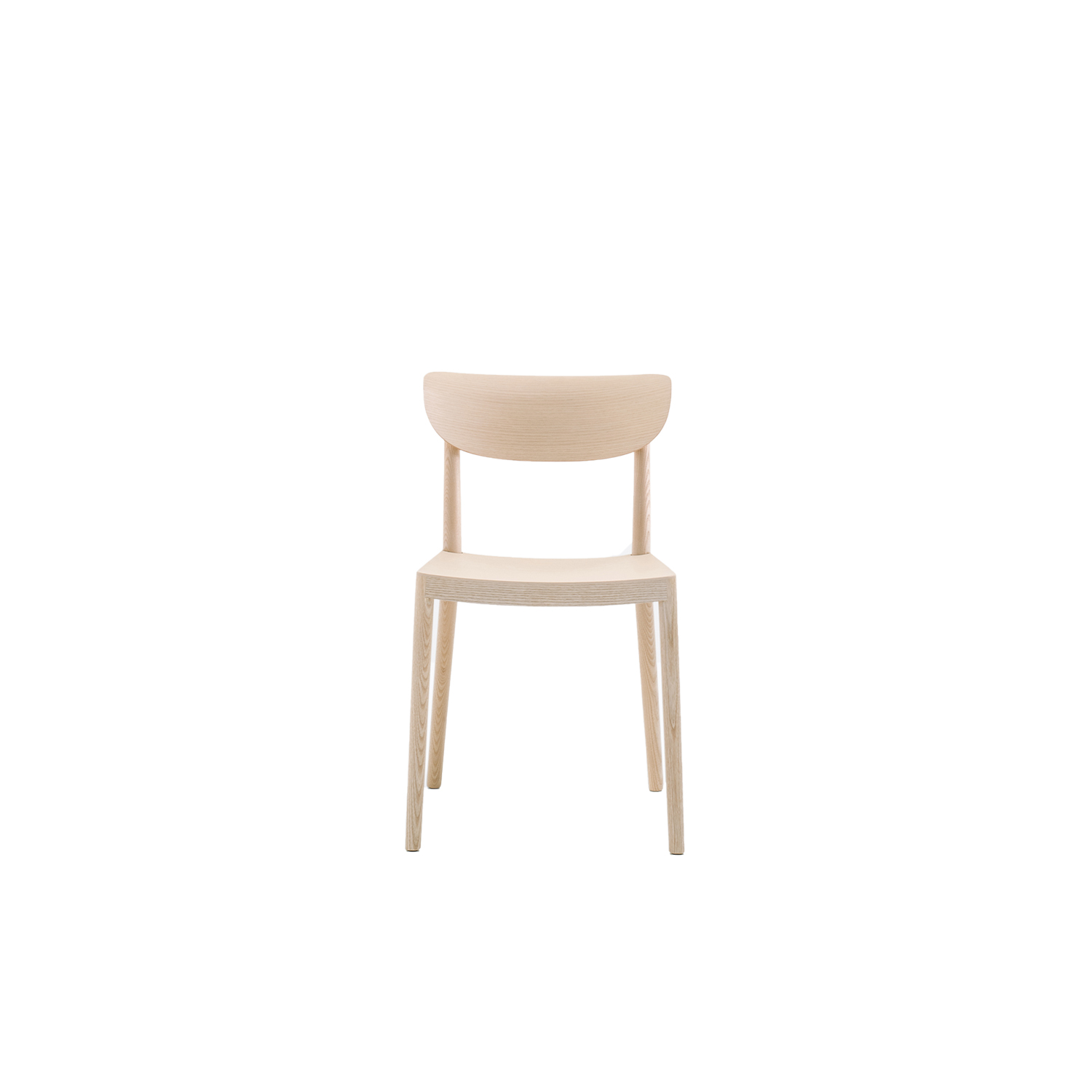 Tivoli Wooden Chair - Tivoli recalls the traditional wooden chairs, maintaining comfort and inspiring conviviality. Solid ash wood chairs with three-dimensional plywood back. | Matter of Stuff