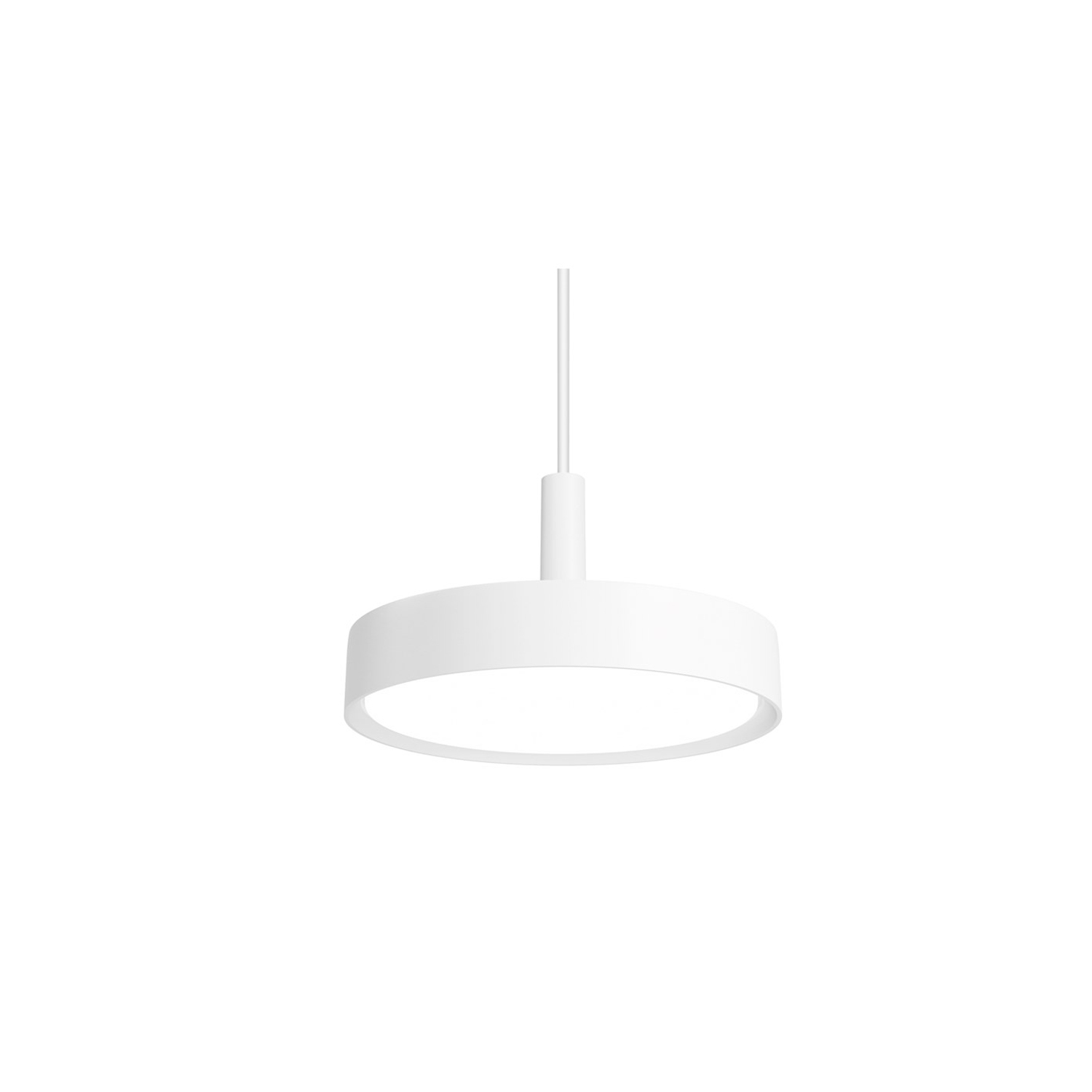 LP Slim Round Pendant Light - The slim housing encircles and high-efficient acrylic diffuser emitting diffused primarily downward directed light. The slim body has a slight curvature and an inner curve which reduces contrast. The product family comes in a range of sizes and mounting options for a wide range of applications. Surface-mounted and suspended versions have an indirect light component. | Matter of Stuff