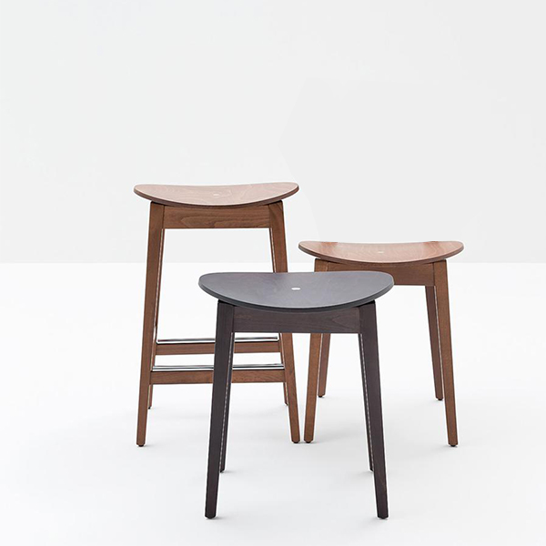 Gradisca Low Stool - <p>Barstools of various heights and finishes: back and seat are available in stained or lacquered plywood, padded, or in toughened laminate. Gradisca was designed and brought to life for the exhibition dedicated to Maestro Werther Toffoloni, to celebrate his long and happy career. Gradisca reflects traditional, down to earth production values, integrated with modern manufacturing techniques. A collection of resilient, compact and lively seating, available in a wide choice of colours, and adaptable to applications of all kinds. Chairs and barstools with stained or lacquered solid beech frames.</p>  | Matter of Stuff