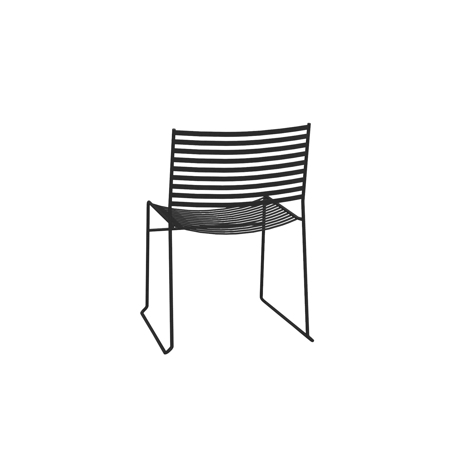 Aero Chair - Set of 2 - <p>Aero, marked by a contemporary design and striking, structural and geometric lightness, presents pieces of furniture versatile and adaptable to any context. The range comprises relaxing armchairs, chairs and stools, for both residential and contract settings. This chair can come in Antique Iron, Matt White or Black and can be placed outdoors. Please enquire for more information.   | Matter of Stuff