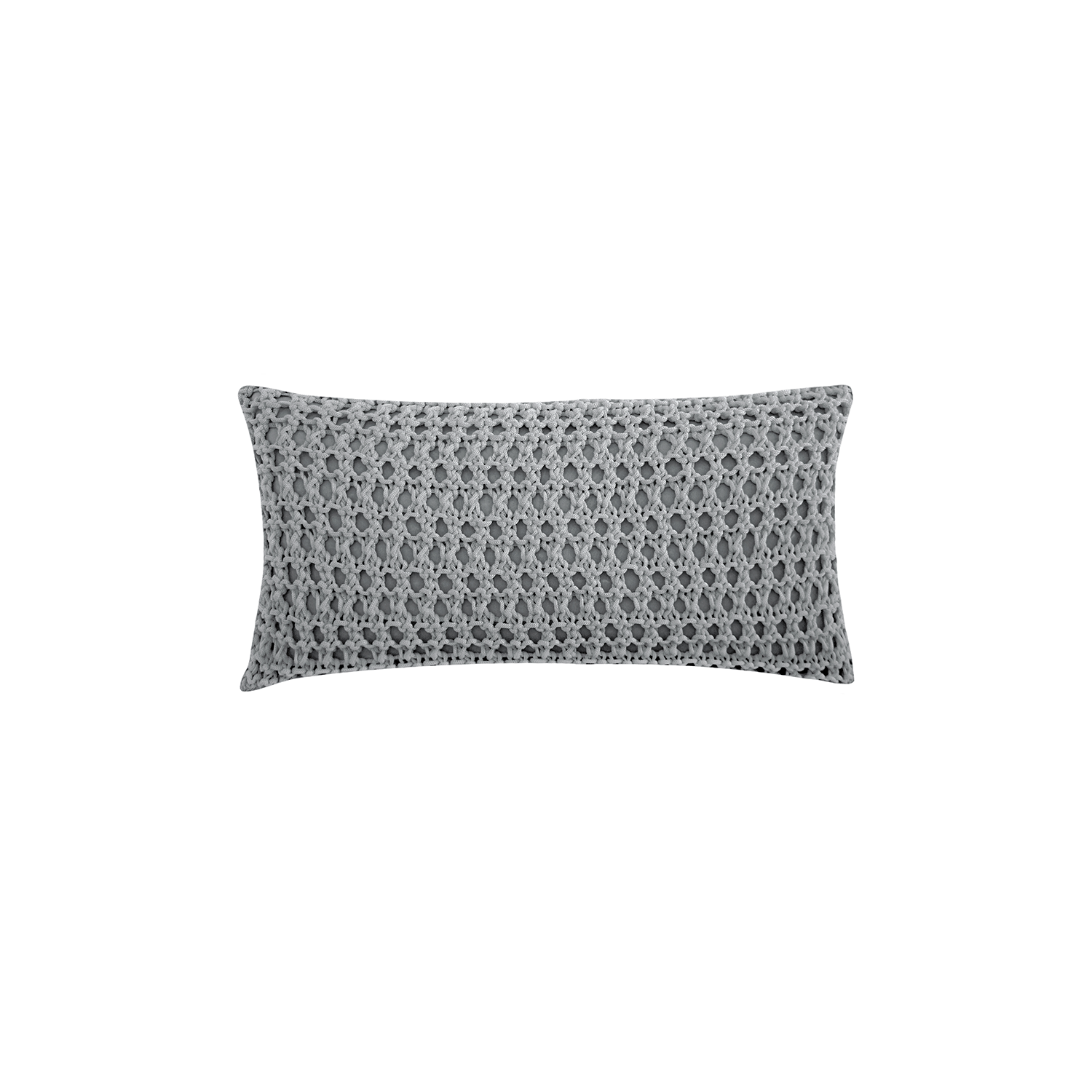Pescador Neo Cushion Small - The Pescador Neo Cushion is carefully knitted within a trained community of women that found in their craft a way to provide for their families. The outdoor collection is made with synthetic fibres, resistant to weather exposure. The use of neoprene brings comfort and technology to the cushions.  The front panel is in neoprene combined with hand woven nautical cord, made in Brazil.  The inner cushion is in Hollow Fibre, made in the UK.  Please enquire for more information and see colour chart for reference.  | Matter of Stuff