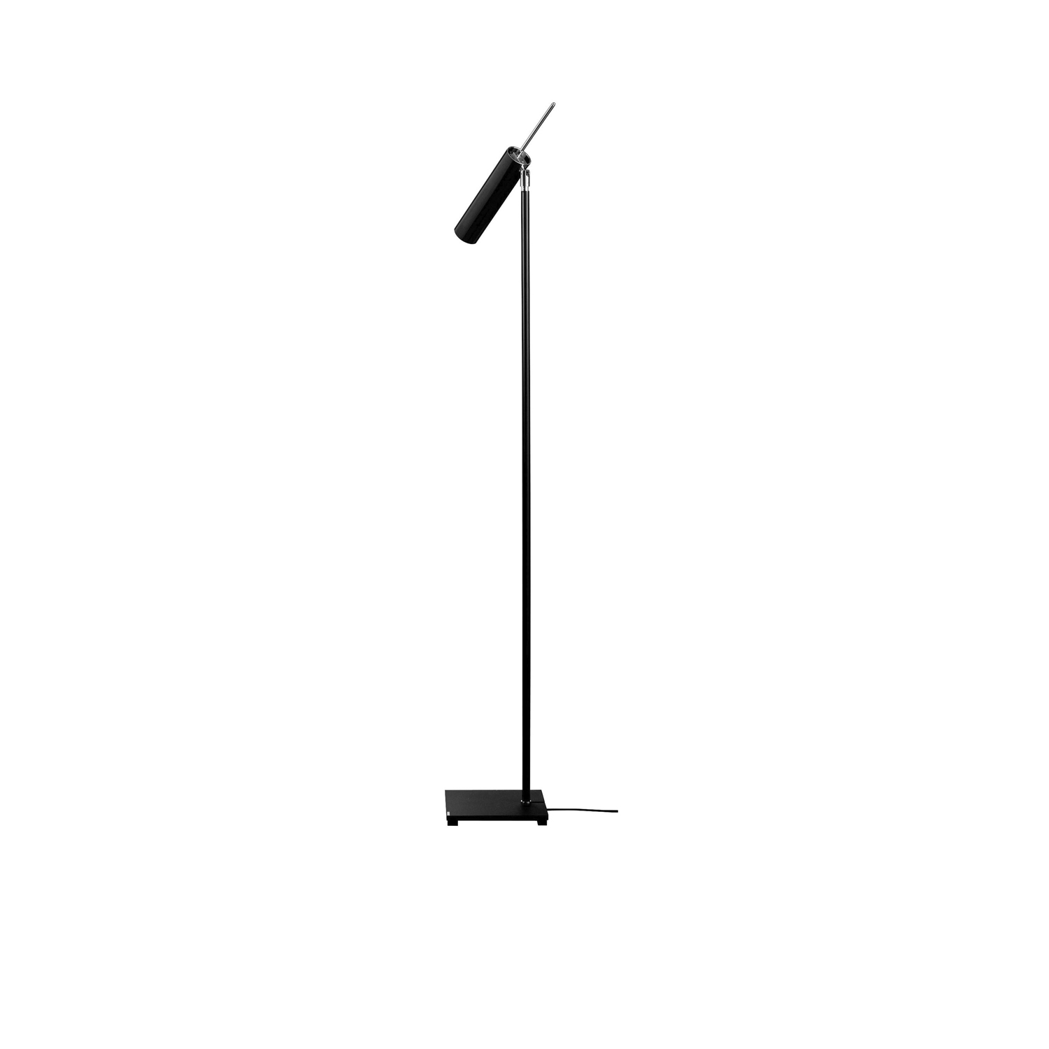 Lucenera 506 Floor Lamp - Lucenera was developed from a simple concept: taking the limelight off the lamp and giving centre stage to the light, depending on the subject illuminated. To achieve this, Enzo Catellani used a black carbon tube and flexible support. The shape is the simplest one possible; the object is the utmost in versatility. | Matter of Stuff