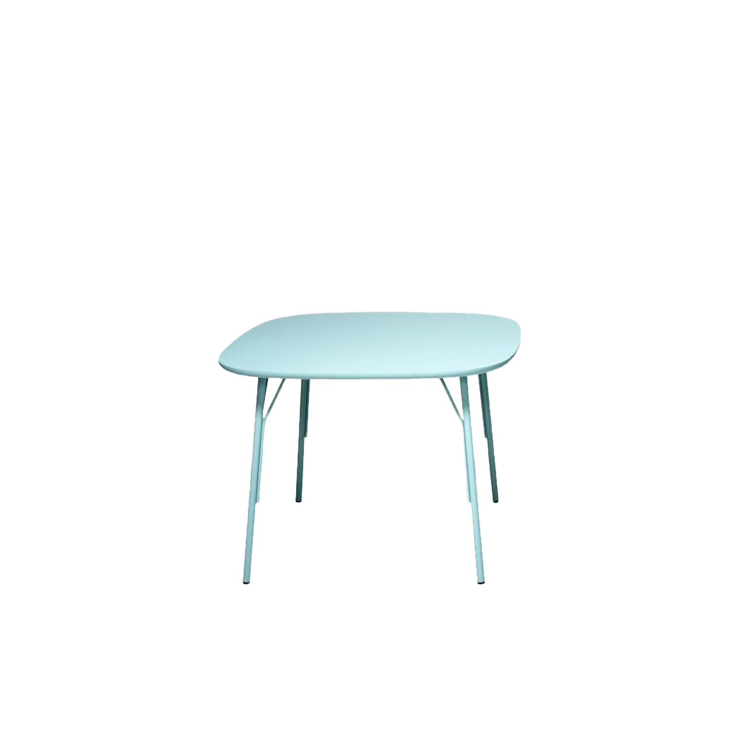 Kelly T Square Table  - Kelly tables are a complete collection of proposals characterised by the same enjoyable formal language made of rounded and comfortable geometries. They are available in different types and dimensions in order to satisfy every need at home, in the office or for the contract market: square, rectangular, with central base or with four legs. The structure can be painted with different colours or chromed for more sophisticated environments. In different colours the top as well, which can have a particular finish that makes it velvety and soft to the touch. This table can have an embossed finish. Please enquire for more information and finishes. | Matter of Stuff