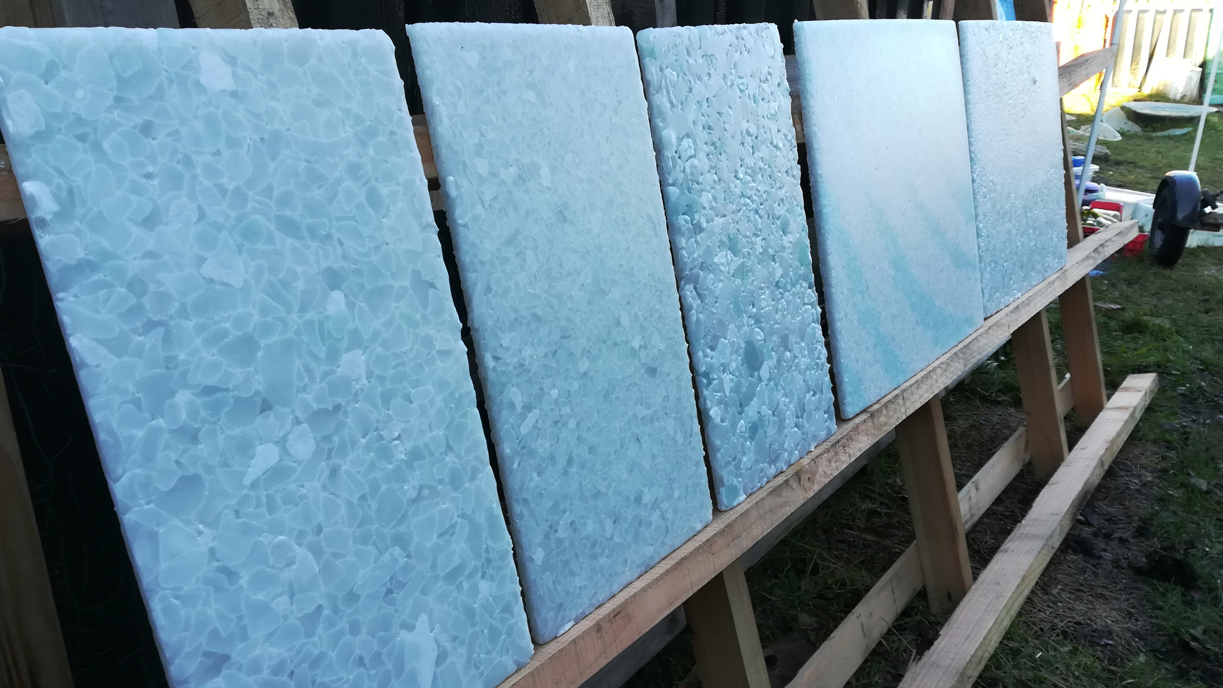Recycled Glass Panels Amber