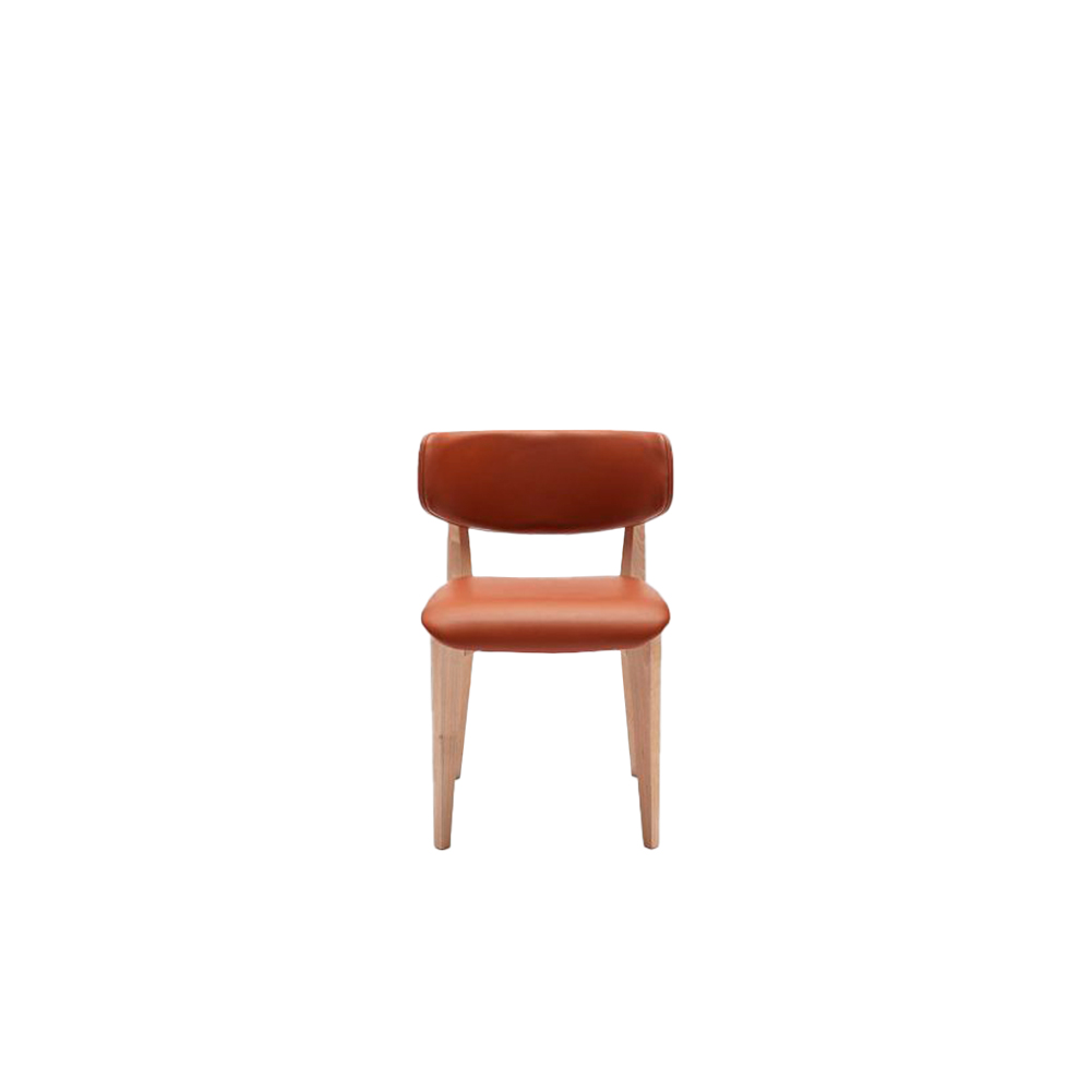 Ksenia Chair - The Ksenia collection is made up of chair, stool and lounge. Its elegant design is given by rounded shapes and movements. The lounge and chair versions have beech wood frames and can be entirely upholstered with fabrics, leathers or eco-leathers of our collection or supplied directly by the customer; the external backrest can be realized in wood and the inner back together with the seat can be upholstered.  Available with rounded seat also.  | Matter of Stuff