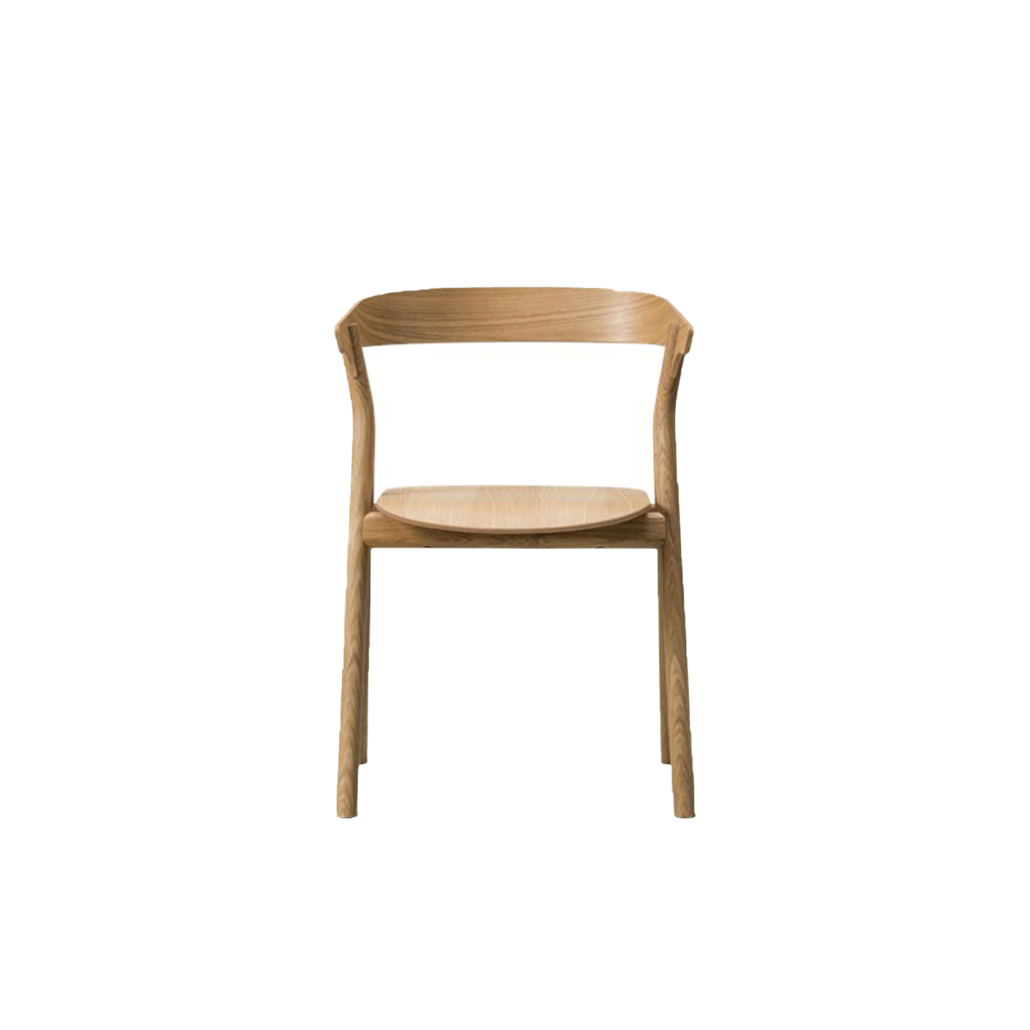 """YKSI Chair  - Yksi is available with a comfortable seat upholstery and two chairs can be stacked for compact storage making it a perfect choice from residential homes and professional workspaces to cafes and restaurants. Yksi means """"one"""" in Finnish, reflecting several elements incorporated into a singular design, signalling classic elegance with a modern twist. The Yksi Chair has two pairs of legs that unite in an upside down Y-shaped base, as a focal point of support for the seat. Featuring a curved backrest that looks as if it's hovering above the seat. The structure makes the chair surprisingly light – both visually and in terms of weight. Two chairs can be stacked for compact storage, adding extra appeal for professional work spaces, cafés, restaurants and homes.   The Yksi Stool is its cousin, perfect for bars, retail settings, corporate dining halls and private kitchens.   Together the Yksi Chair and Yksi Stool have a light appearance that belies their strong construction. Sharing the same distinctive Y-shape and crafted in solid oak, they represent a contemporary take on classic woodworking techniques aimed at a modern audience. 
