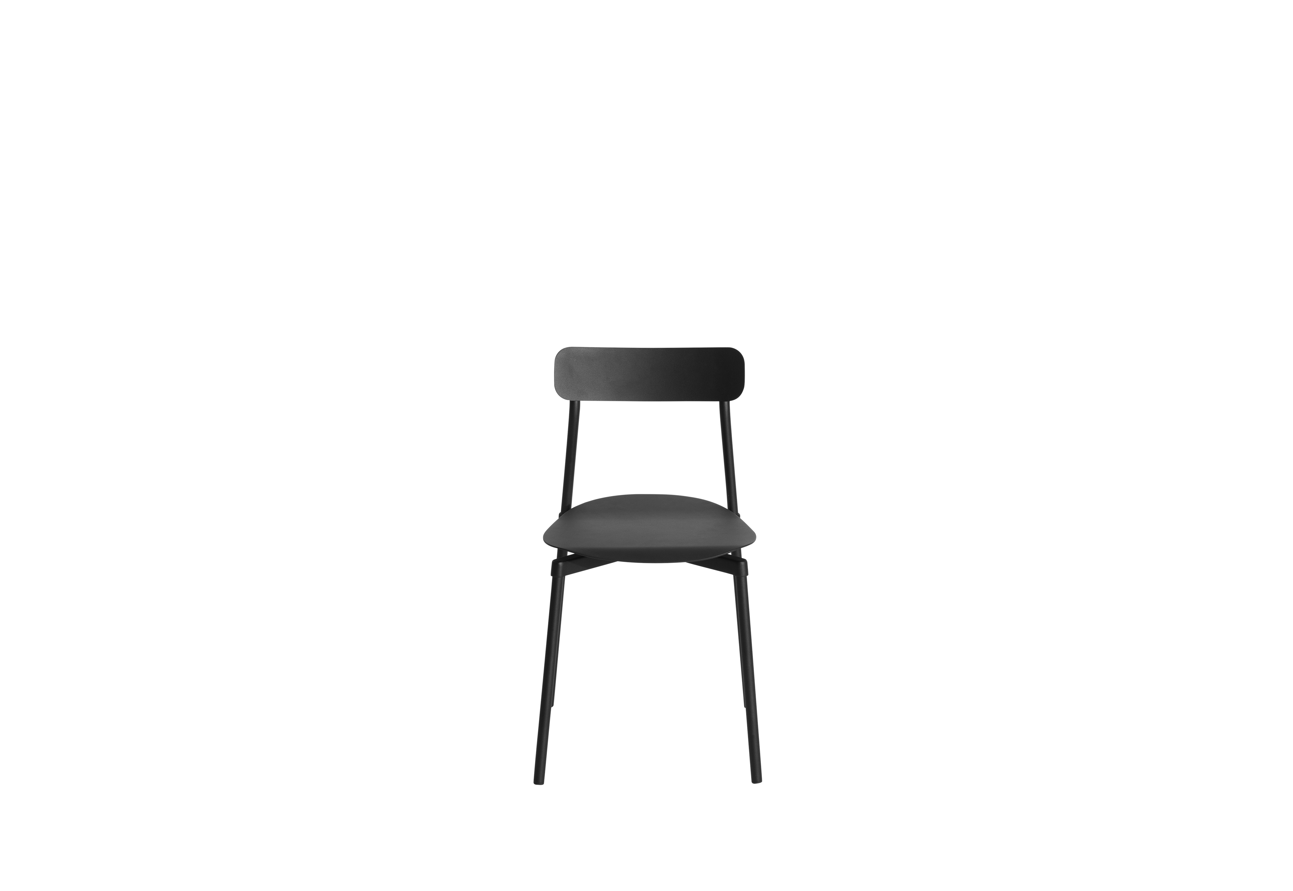 Fromme Chair - Metal chair This metal designer chair is distinguished by its pure line and its unique character: the absorbers placed under the seat give a soft and very comfortable flexibility to the chair.  This design was inspired by the personal story of Tom Chung. An experienced cyclist, he used to climb Fromme Mountain outside of Vancouver and was fascinated by the technical performance of his bike. He sought to rediscover the efficiency that the latter brought him to reinvent the most common object and yet the greatest challenge for a designer: a design chair | Matter of Stuff