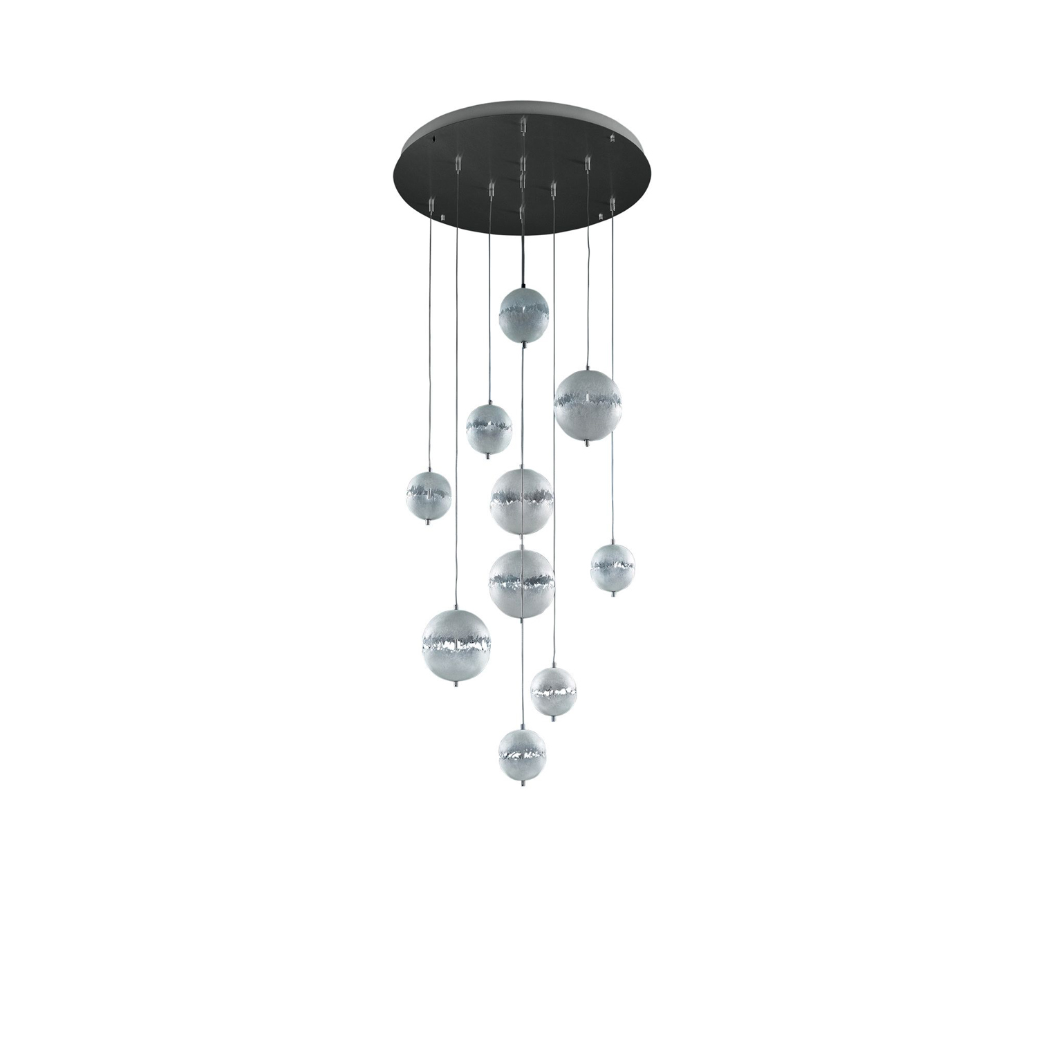 PostKrisi Chandelier - With PostKrisi Enzo Catellani began working and moulding fibreglass. This material fascinated him due to its incredible versatility and strength, but above all for the shadows it casts when it interacts with light.  Dimensions Varies Plese Enquire  | Matter of Stuff