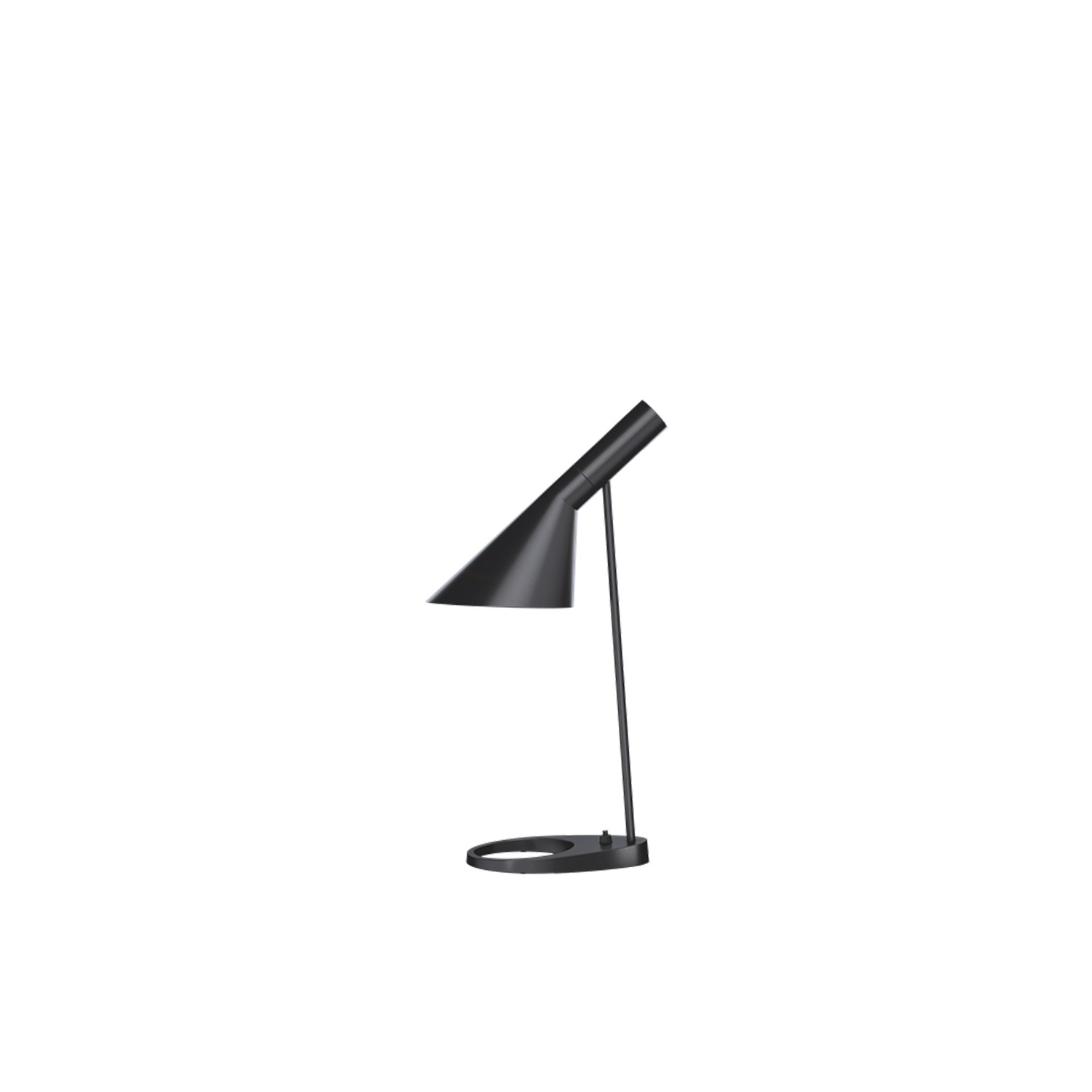 AJ Table Lamp - The fixture emits downward directed light. The angle of the shade can be adjusted to optimize light distribution. The shade is painted white on the inside to ensure a soft comfortable light.   | Matter of Stuff