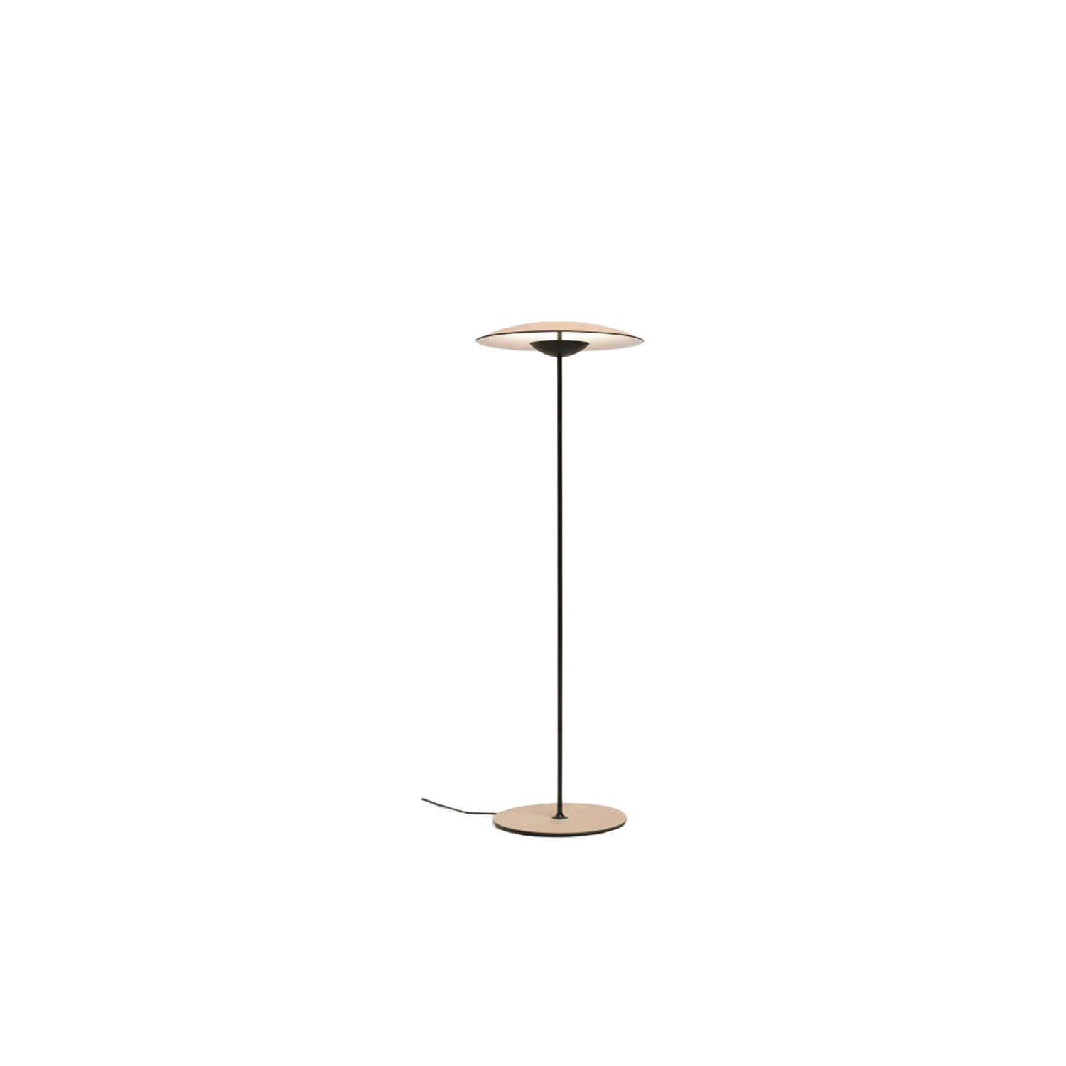 Ginger P Floor Lamp - Wood is a great ally of cozy lighting. It is a material that is hard to mold, a challenge that the Ginger collection neatly resolves. The combination of sheets of wood and paper pressed together under high pressure achieves a laminate that appears almost entirely flat, which discreetly lights up spaces with indirect light.  The Ginger collection is being expanded to include larger table and pendant versions, standing versions with moveable arms, an unobstrusive wall lampand another wall version with moveable arm. | Matter of Stuff