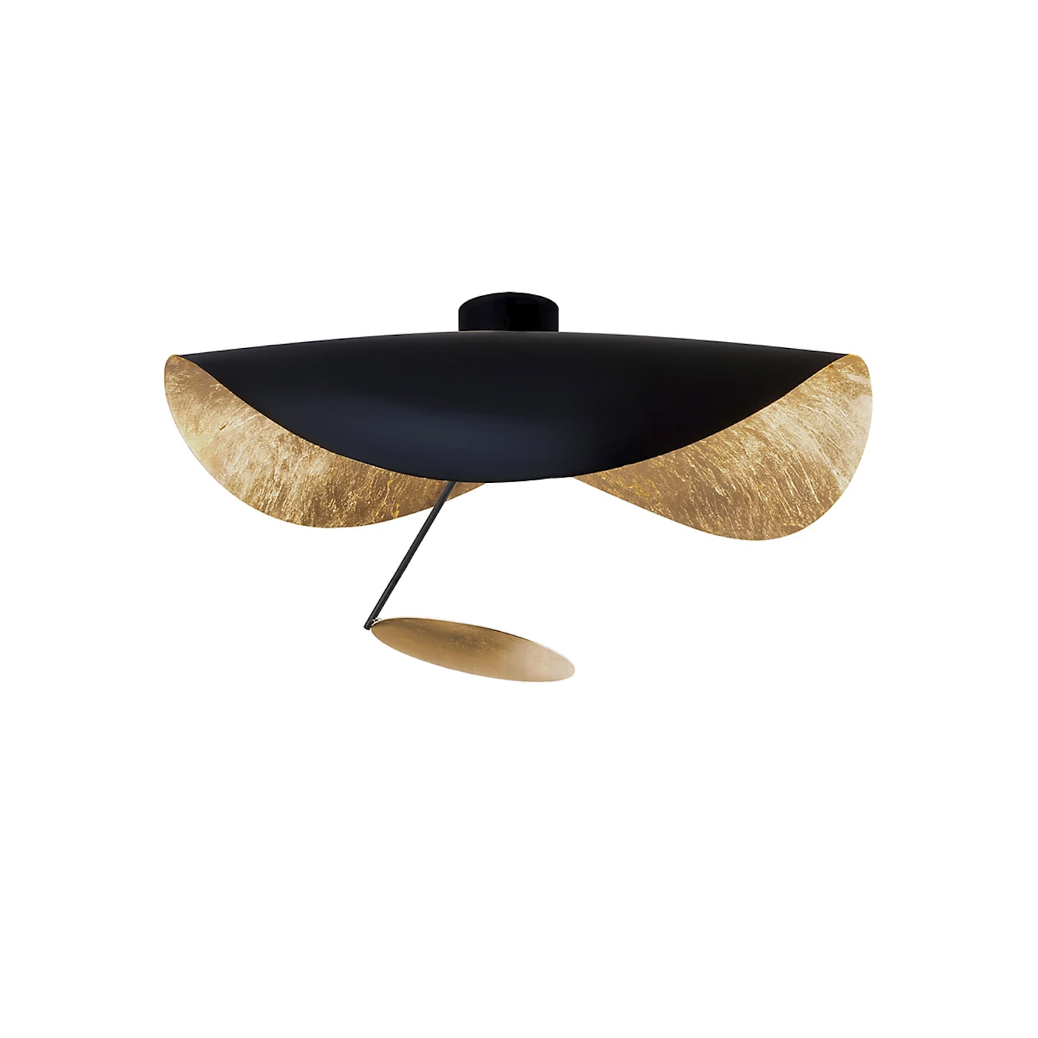 Lederam Manta CWS1 Wall/ Ceiling Lamp - Lederam embodies the accuracy of the motion required to draw a line. The warm, softly coloured disks surround a LED module with an ultra-flat shape, which creates thin lamps and suspended forms with curved, sinuous lines. | Matter of Stuff